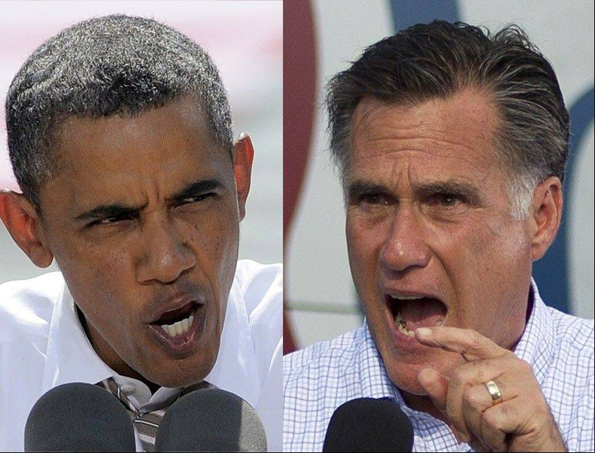 Former Massachusetts Gov. Mitt Romney and President Barack Obama are on even footing when it comes to political advertising.