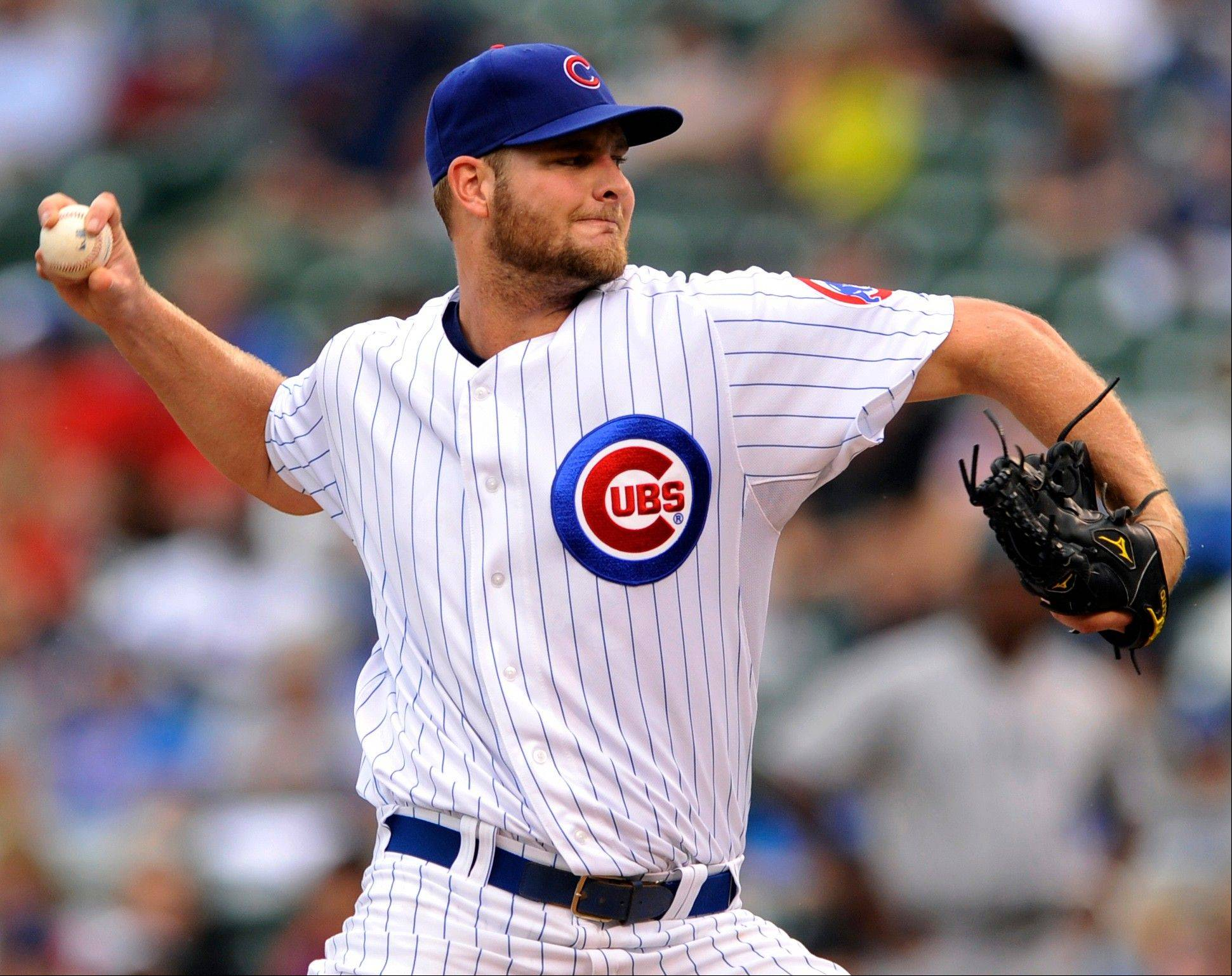 Cubs starter Chris Volstad earned his first victory Sunday since July 10, 2011, when he was a member of the Marlins. He had gone 24 starts without a win, 4 short of the all-time record.