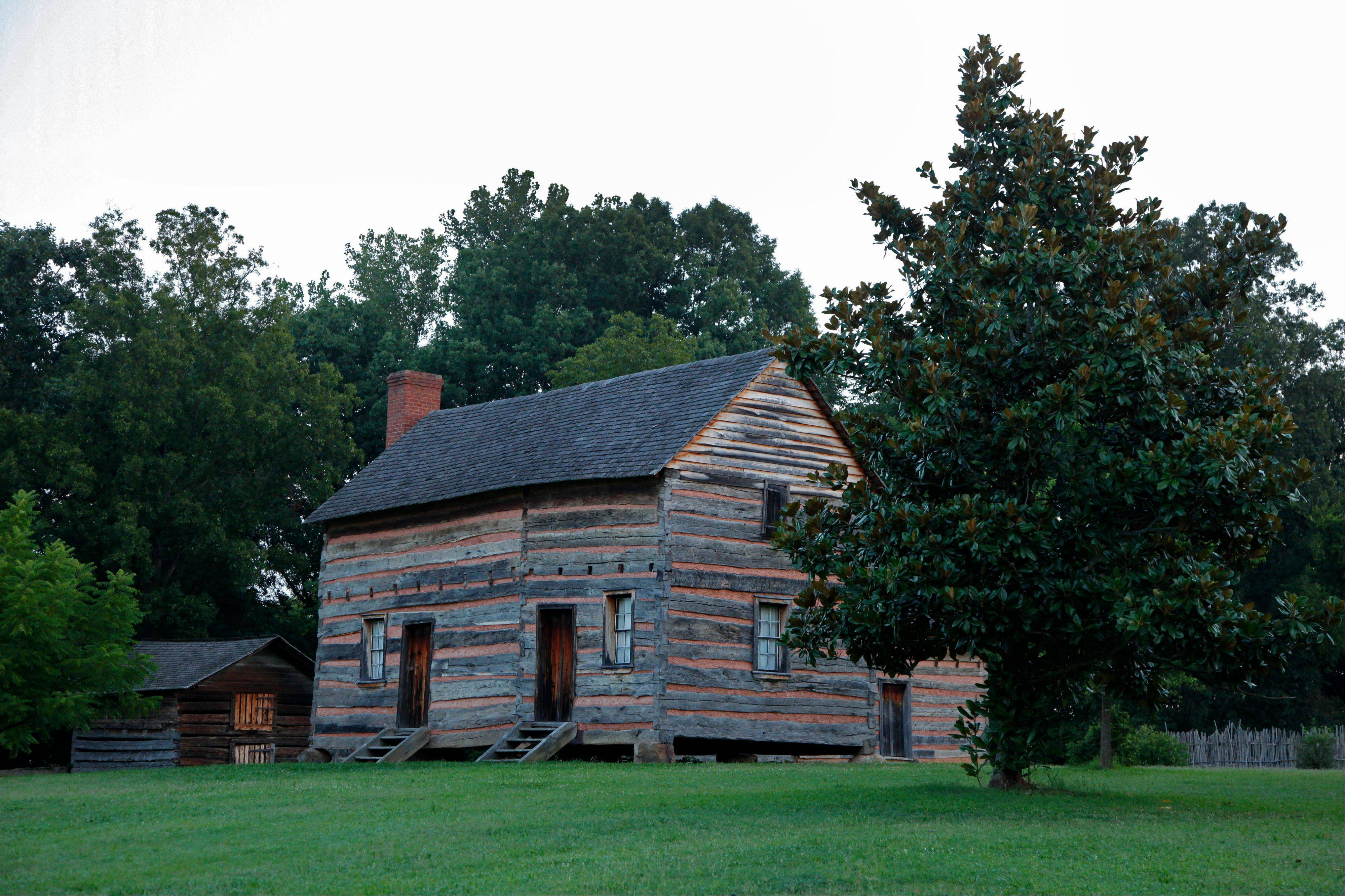 The birthplace of President James K. Polk is shown in Pineville, N.C.