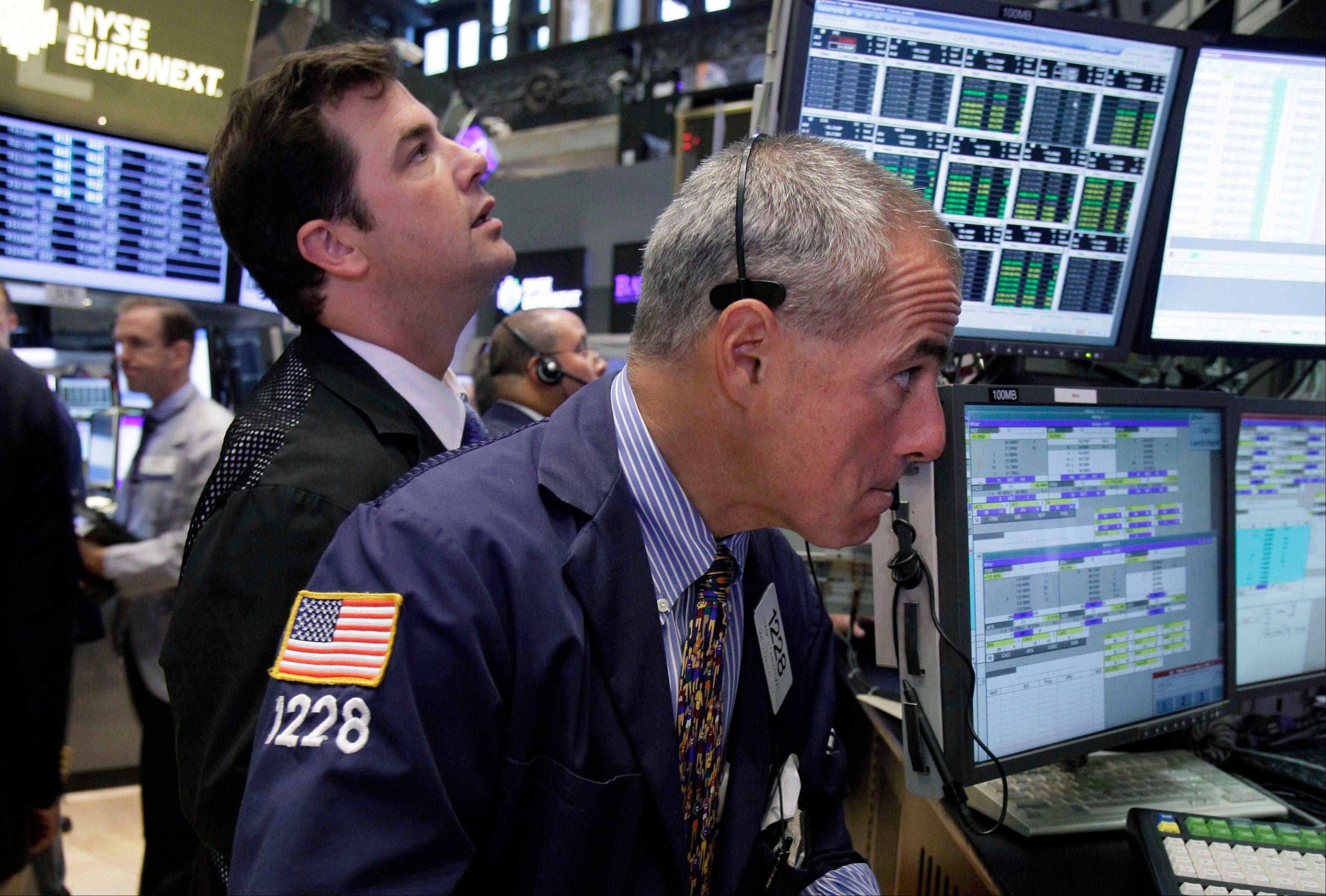 U.S. stocks fell, following the first weekly decline in about two months for the Standard & Poor's 500 Index, as investors awaited indications on whether the Federal Reserve will provide further stimulus measures.