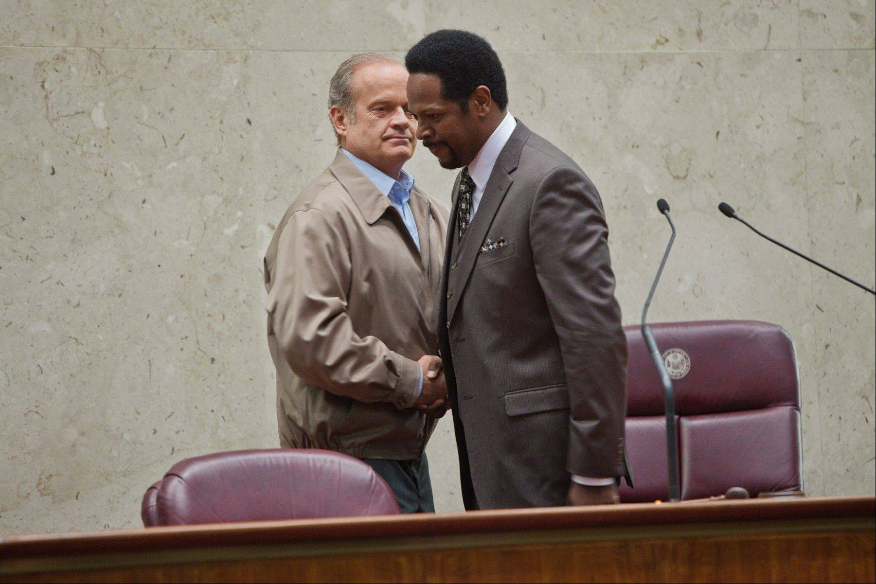 "The relationship between Kelsey Grammer's Mayor Tom Kane, left, and James Vincent Meredith's Alderman William Ross remains frosty as the second season of ""Boss"" continues on Starz."