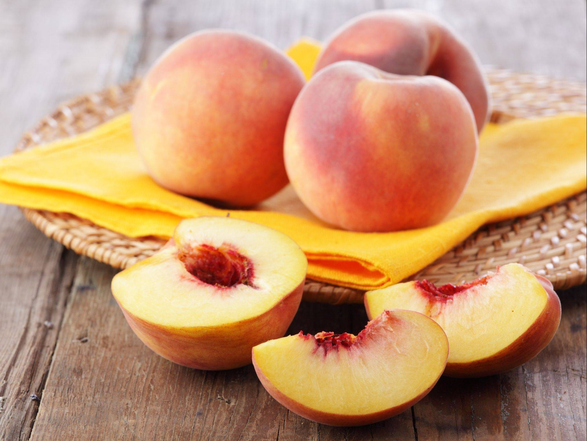 Peaches are in season, so grab these healthy and sweet treats while you can.