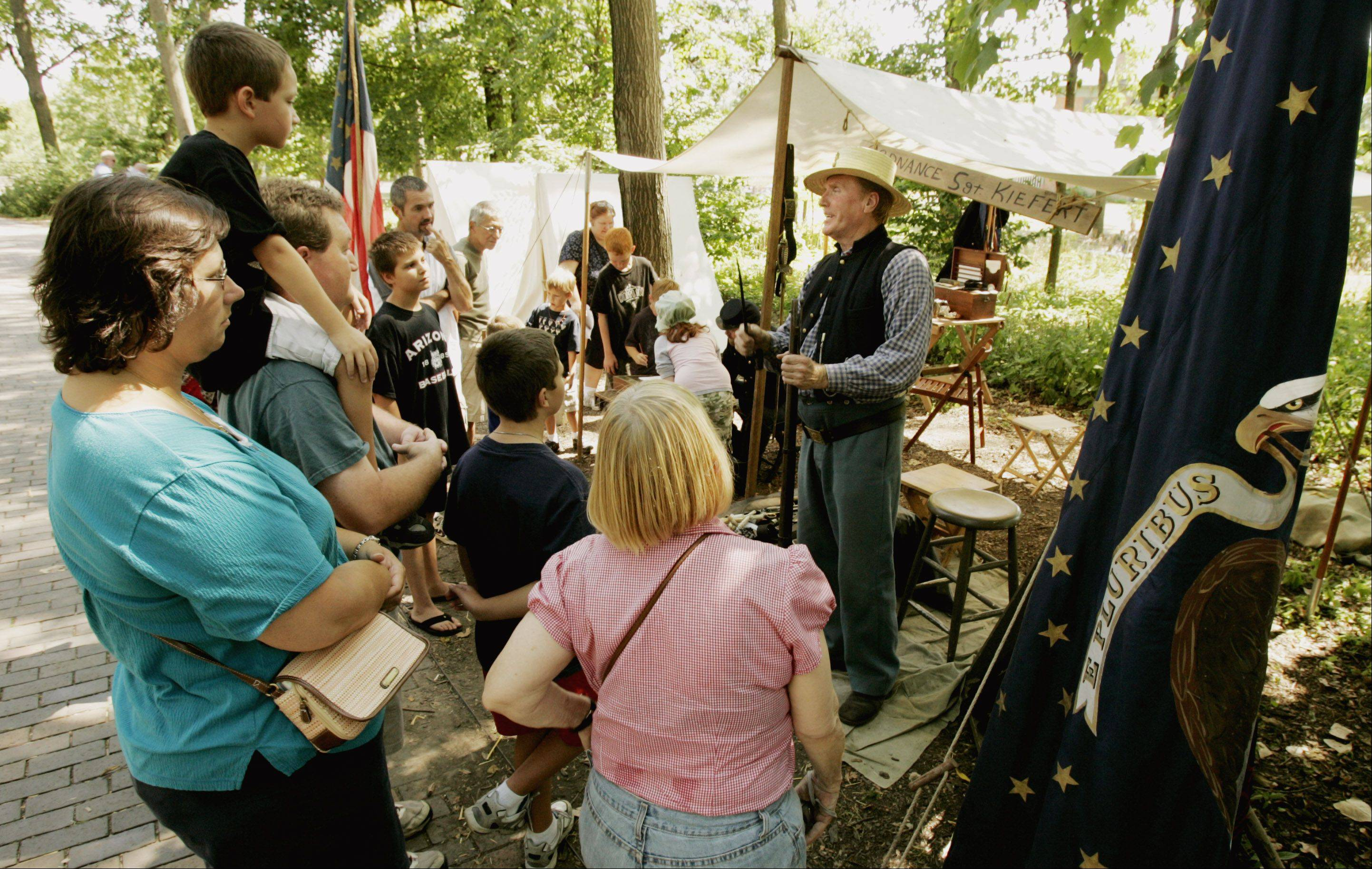 "People are often amazed at how life in the Civil War era was both really different in some ways and really similar in others to life today, said Leslie Goddard, executive director at Graue Mill and Museum. ""A lot of military camp was about making friendships and making do with what you have, so that's the same,"" she said."