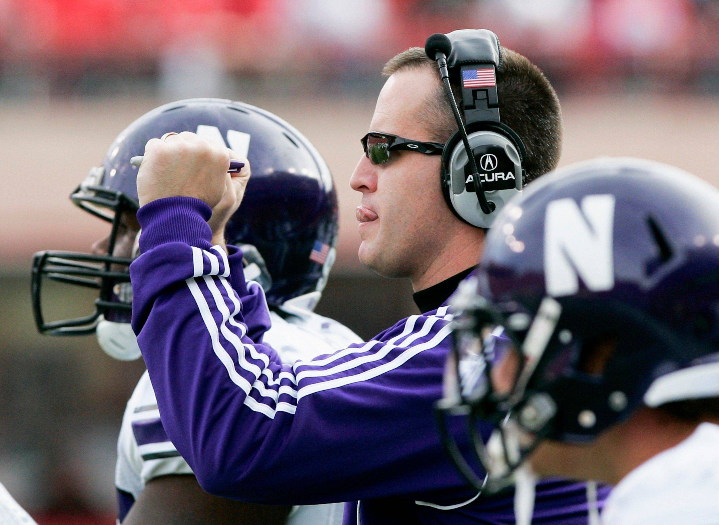 Northwestern head football coach Pat Fitzgerald's offense this season will open with three starters from suburban teams: Fremd, Montini and Wheaton Warrenville South.