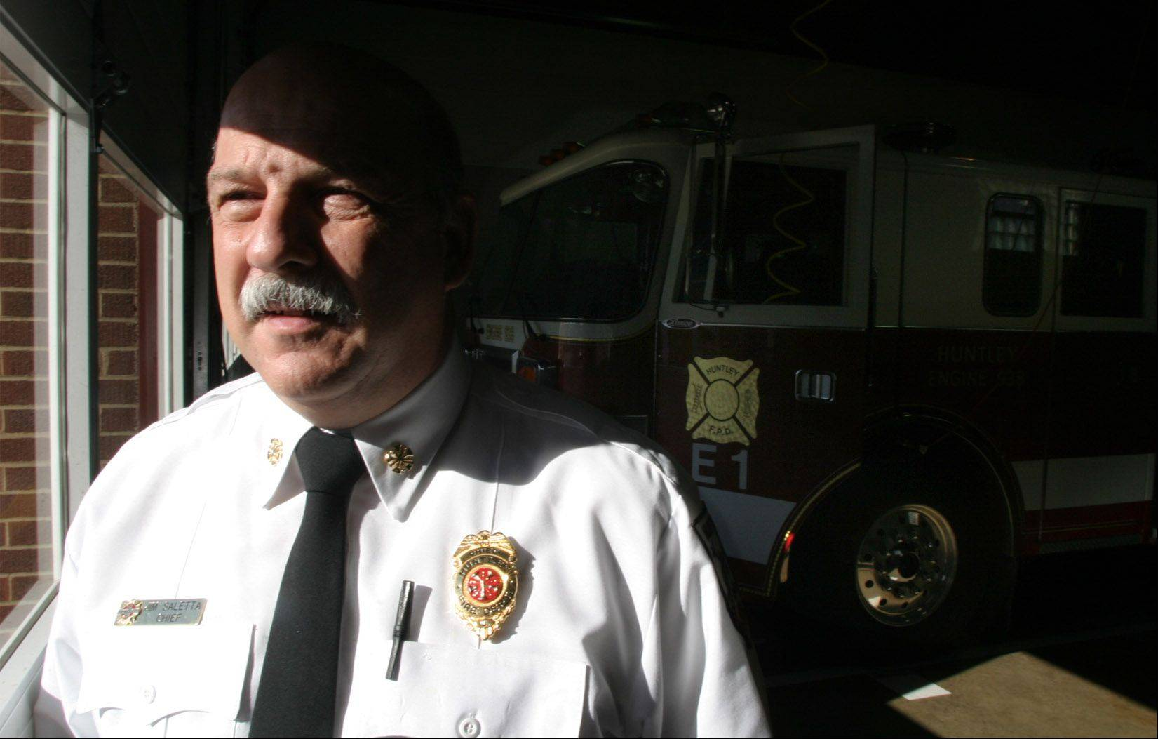 Huntley fire chief to retire in November