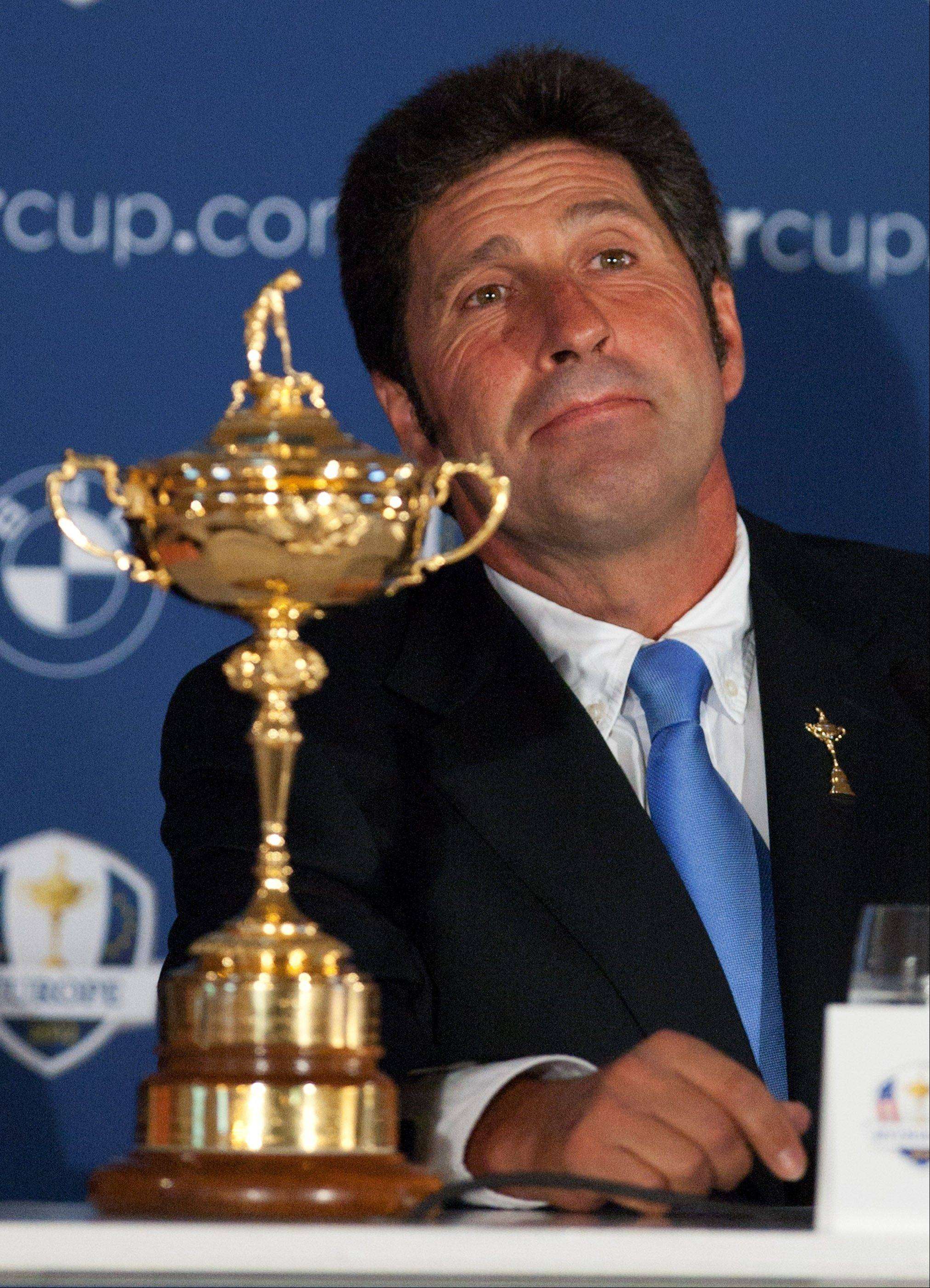 European team captain Jose Maria Olazabal has assembled a veteran team for the 2012 Ryder Cup at Medinah Country Club. Olazabal has only one rookie among his 12 players, and Europe has won four of the last five competitions.