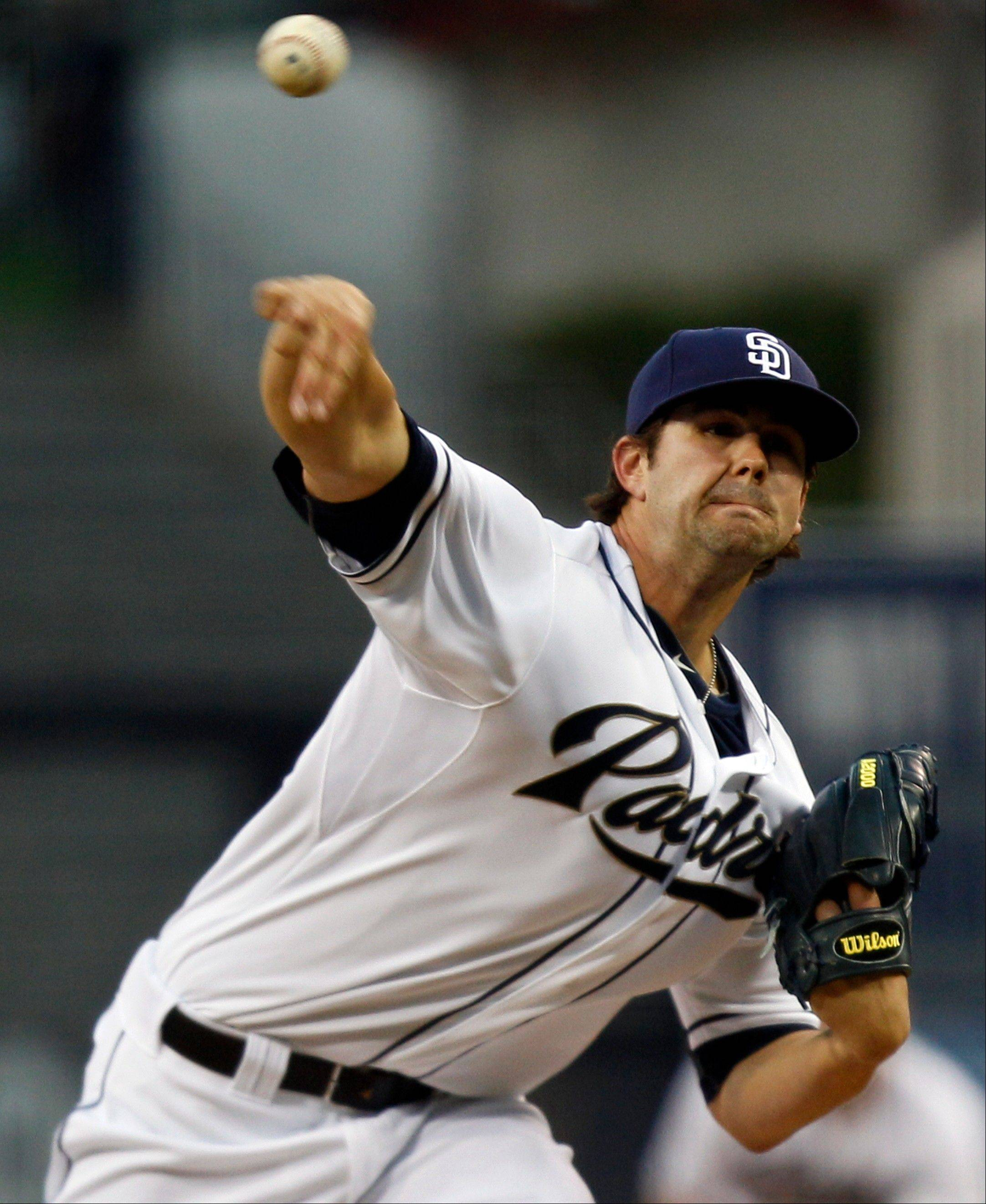 San Diego Padres starter Casey Kelly allowed three hits in six innings, struck out four and walked two Monday night at home against the Atlanta Braves.