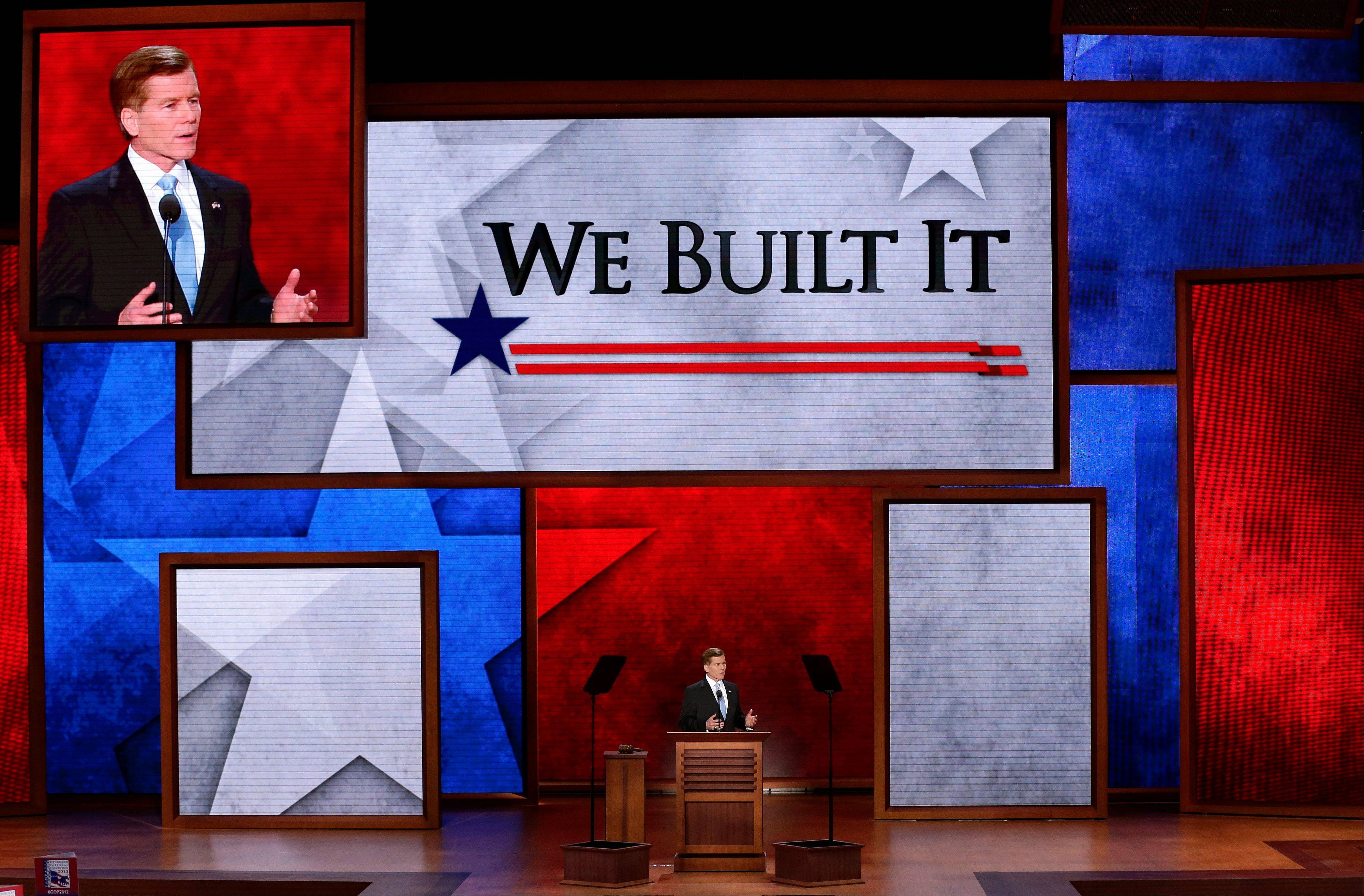 Virginia Governor Bob McDonnell Tuesday addresses the Republican National Convention in Tampa, Fla.