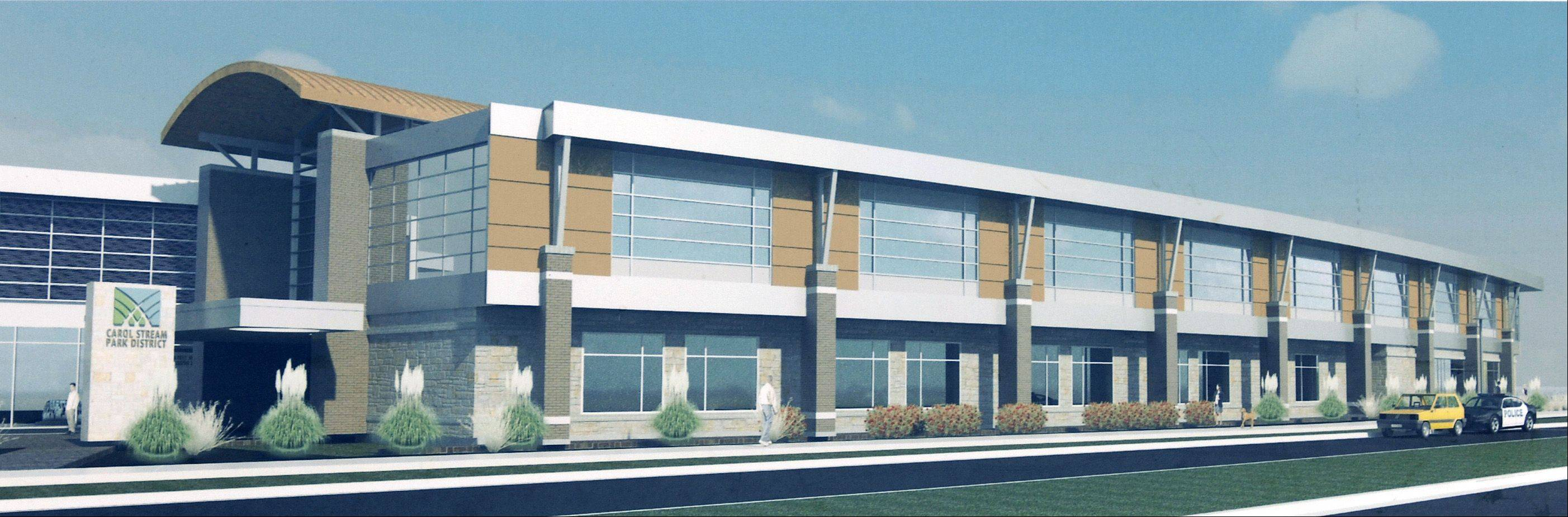 The Carol Stream Park District board is expected to pick a name this fall for the $18 million recreation center now under construction at Gary Avenue and Fountain View Drive in the Town Center.