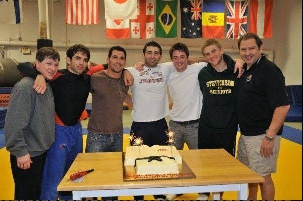 From left: Donald Fowler; R.J. Cohen; Danny Satinsky; Aaron Cohen; Joshua O'Neil; Max Golembo and Irwin Cohen.