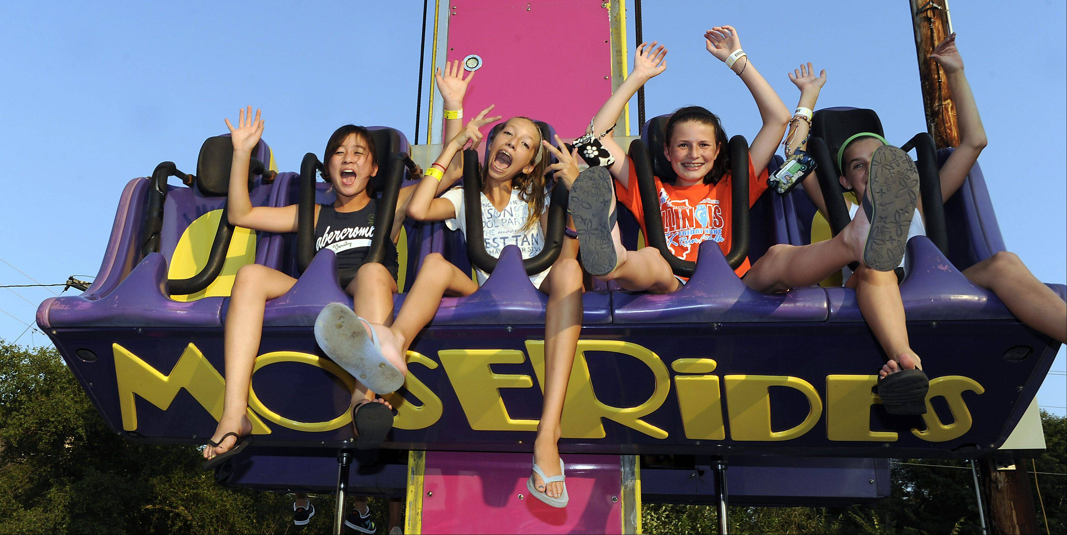 No hands! Teens have a blast at last year's carnival.