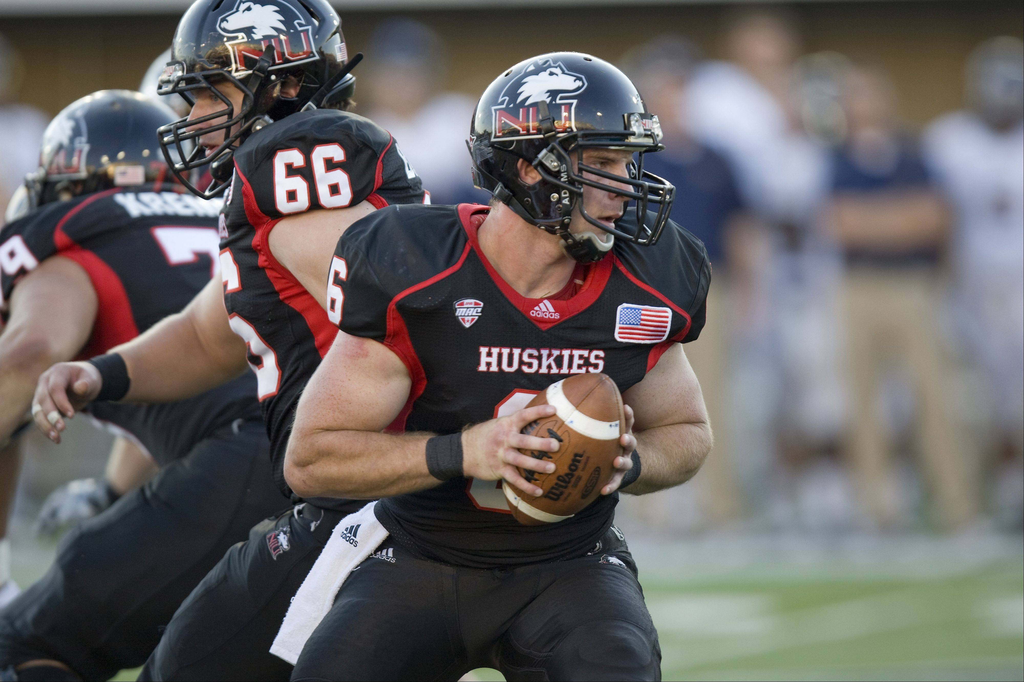 After watching all-everything quarterback Chandler Harnish rewrite the NIU record book last season, Jordan Lynch (6) gets his turn to run the Huskies offense this season. NIU plays Iowa on Saturday at Soldier Field.