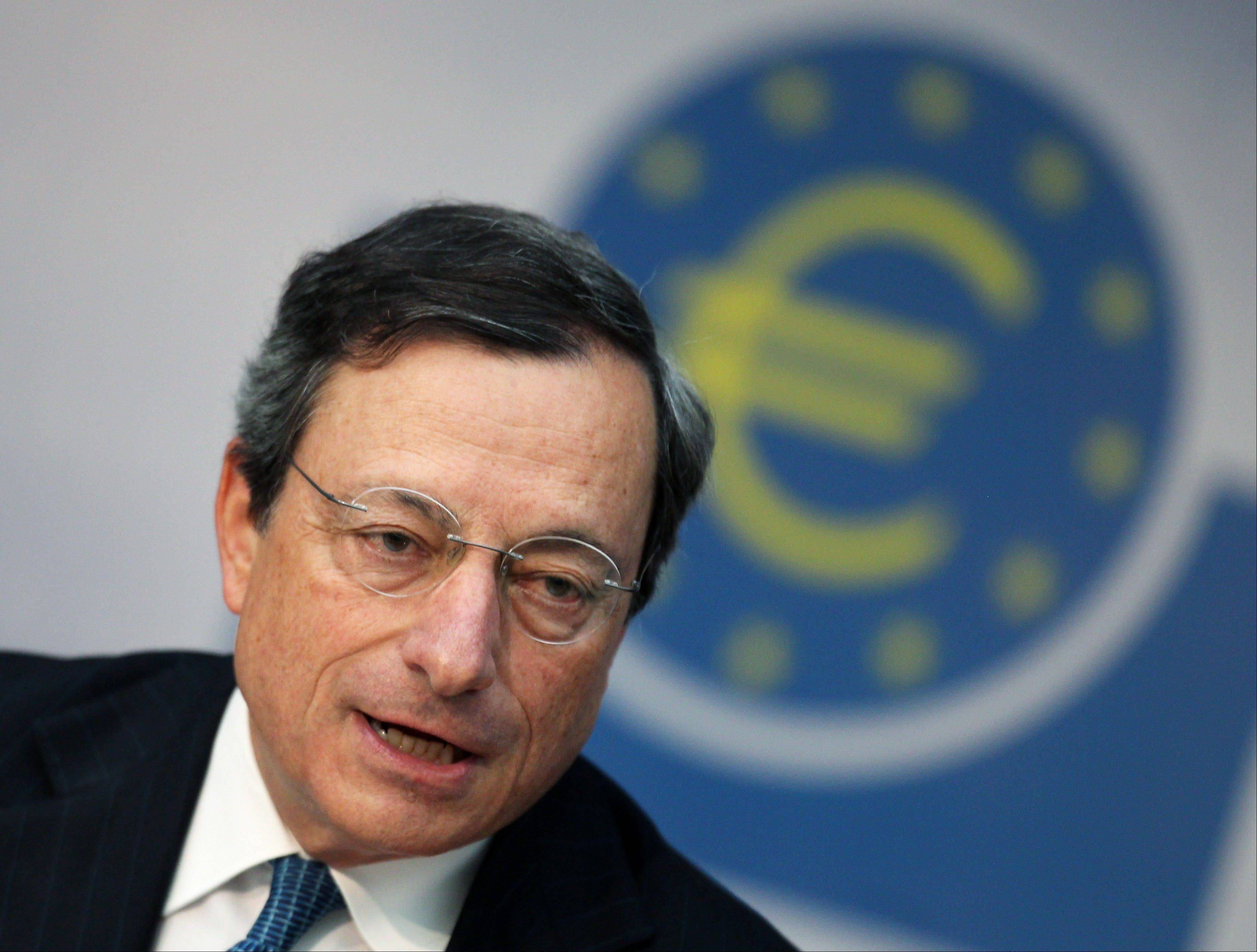 President of European Central Bank Mario Draghi