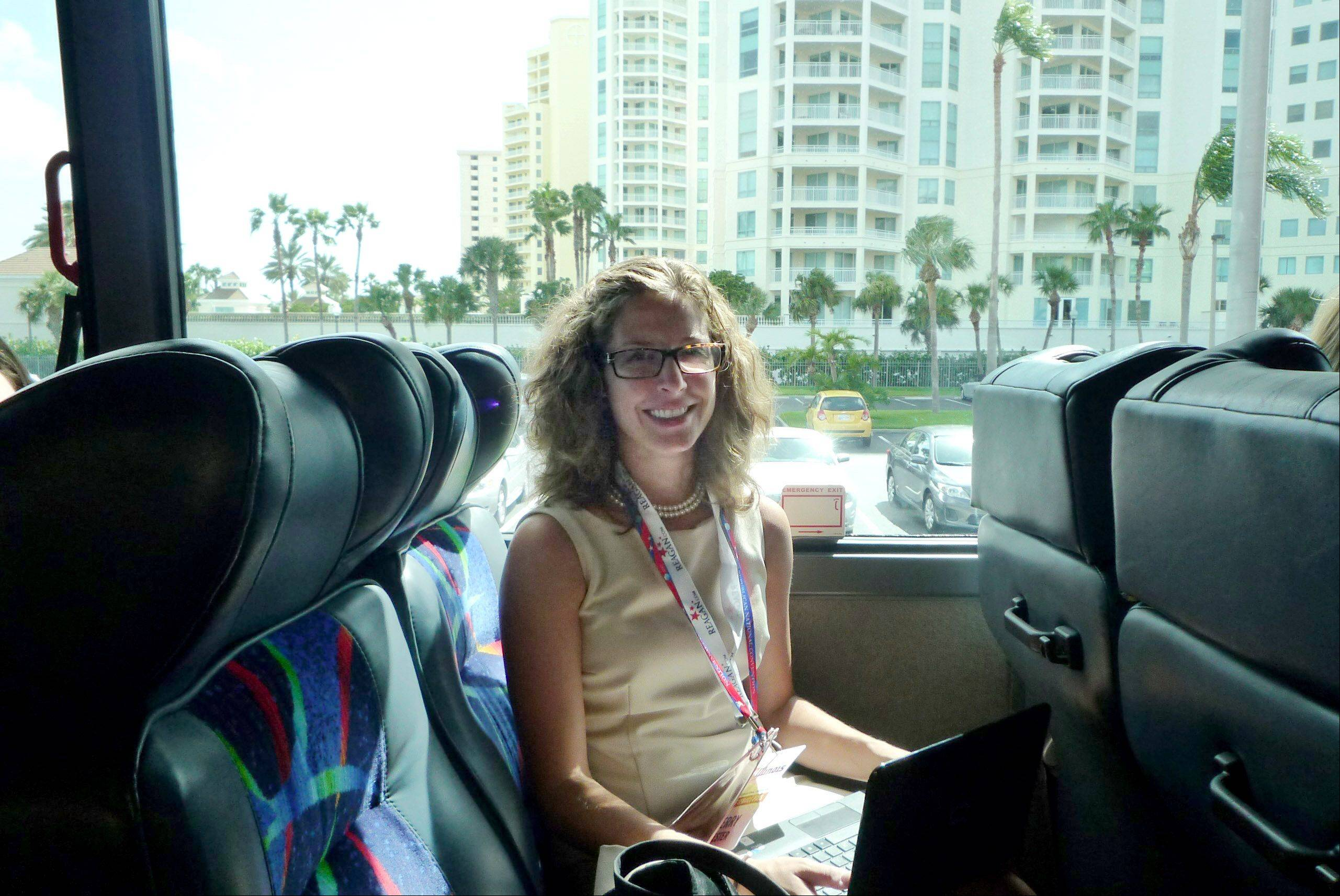 Daily Herald Politics and Projects Writer Kerry Lester joins Illinois delegates on a bus, where the group spends a lot of time because their hotel is 45 minutes from the Republican National Convention.