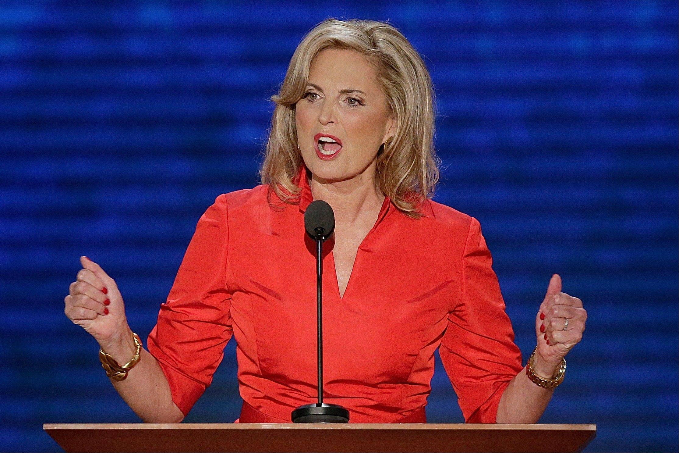 Ann Romney, wife of U.S. Republican presidential candidate Mitt Romney, addresses the Republican National Convention.