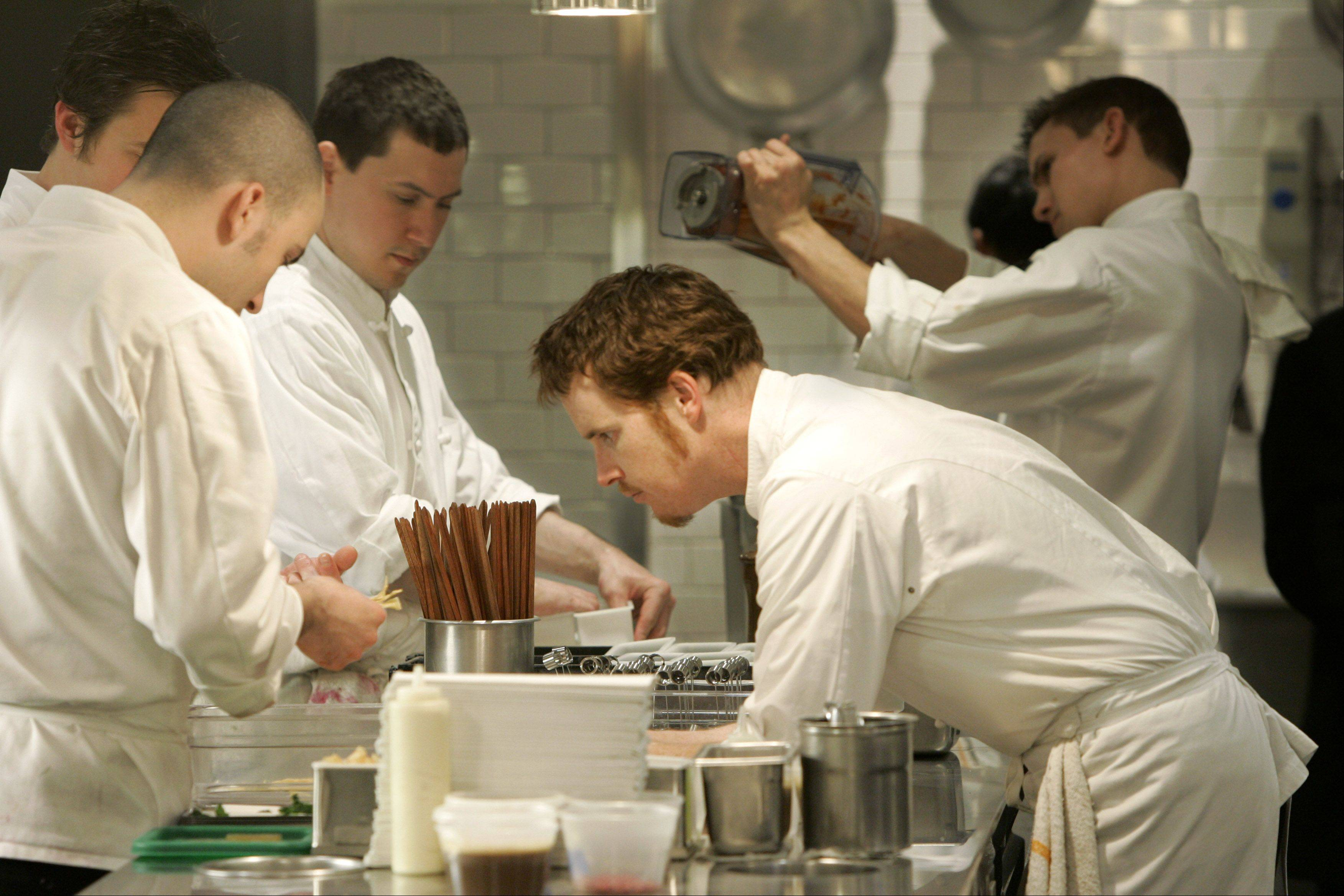 Chef Grant Achatz, right, will bring a crew from his Alinea Restaurant kitchen in Chicago to New York's Eleven Madison Park for a week in a unique restaurant swap.