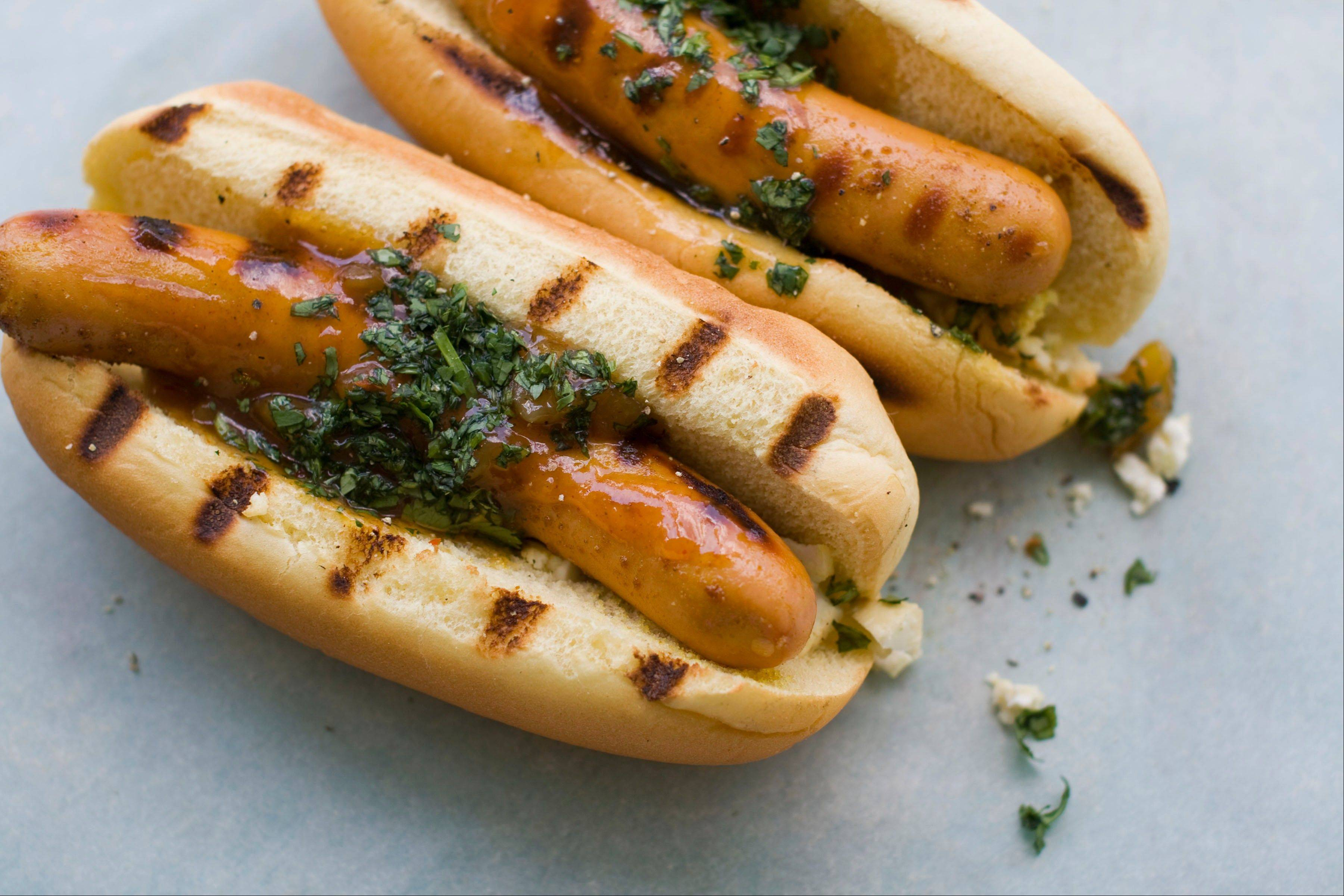 Curry powder and paneer turn this frankfurter into an Indian-inspired hot dog.