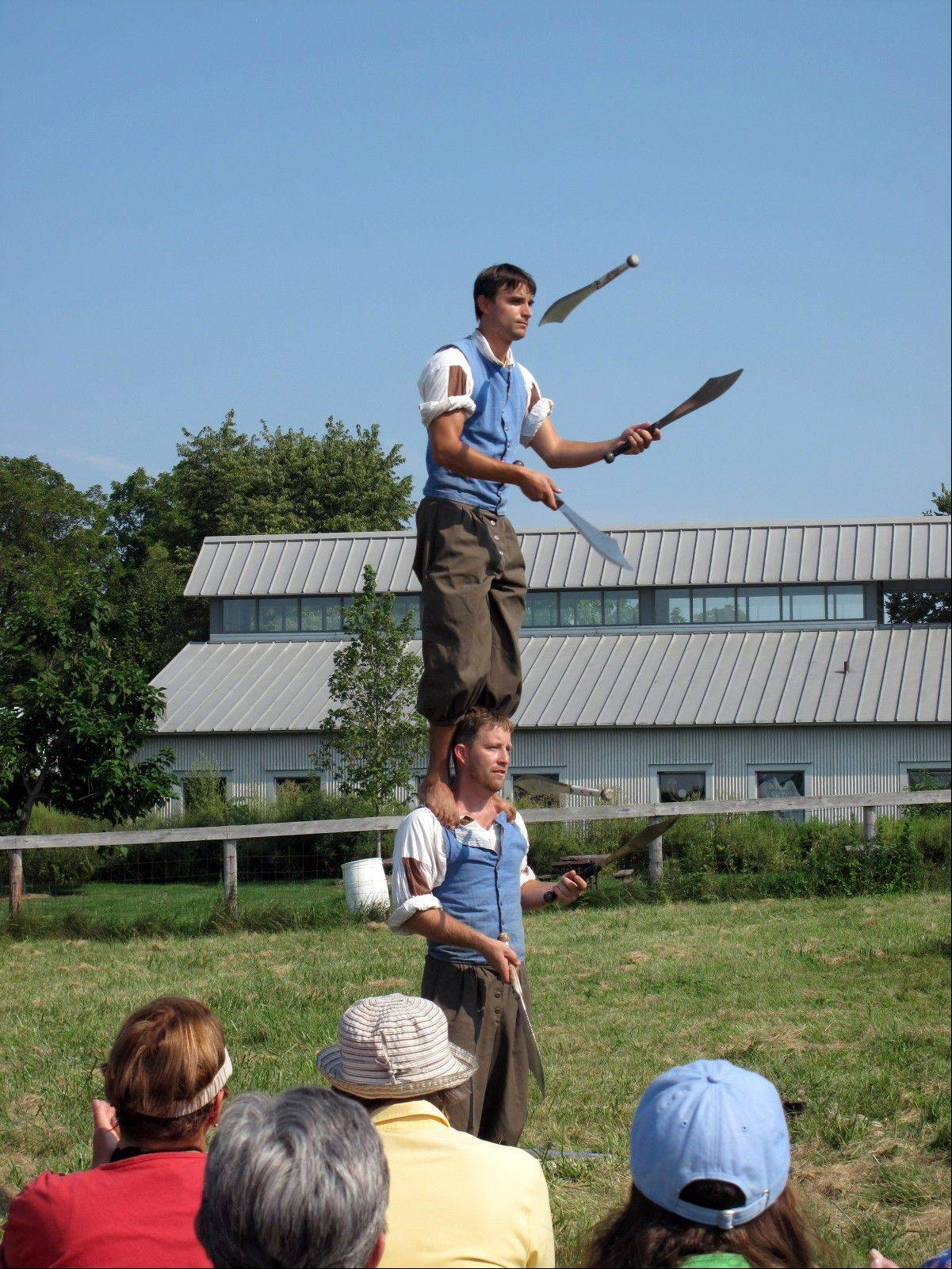 See jugglers and more at the old-fashioned Country Fair at Kline Creek Farm in West Chicago.