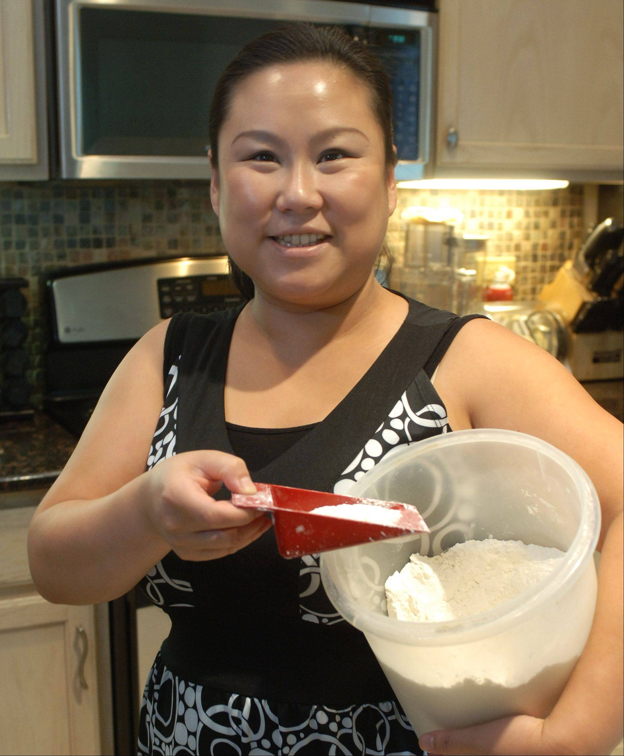 Paul Valade/pvalade@dailyherald.comCook of the Week challenger Sarah K. Lee of Round Lake. Flour is her favorite item.