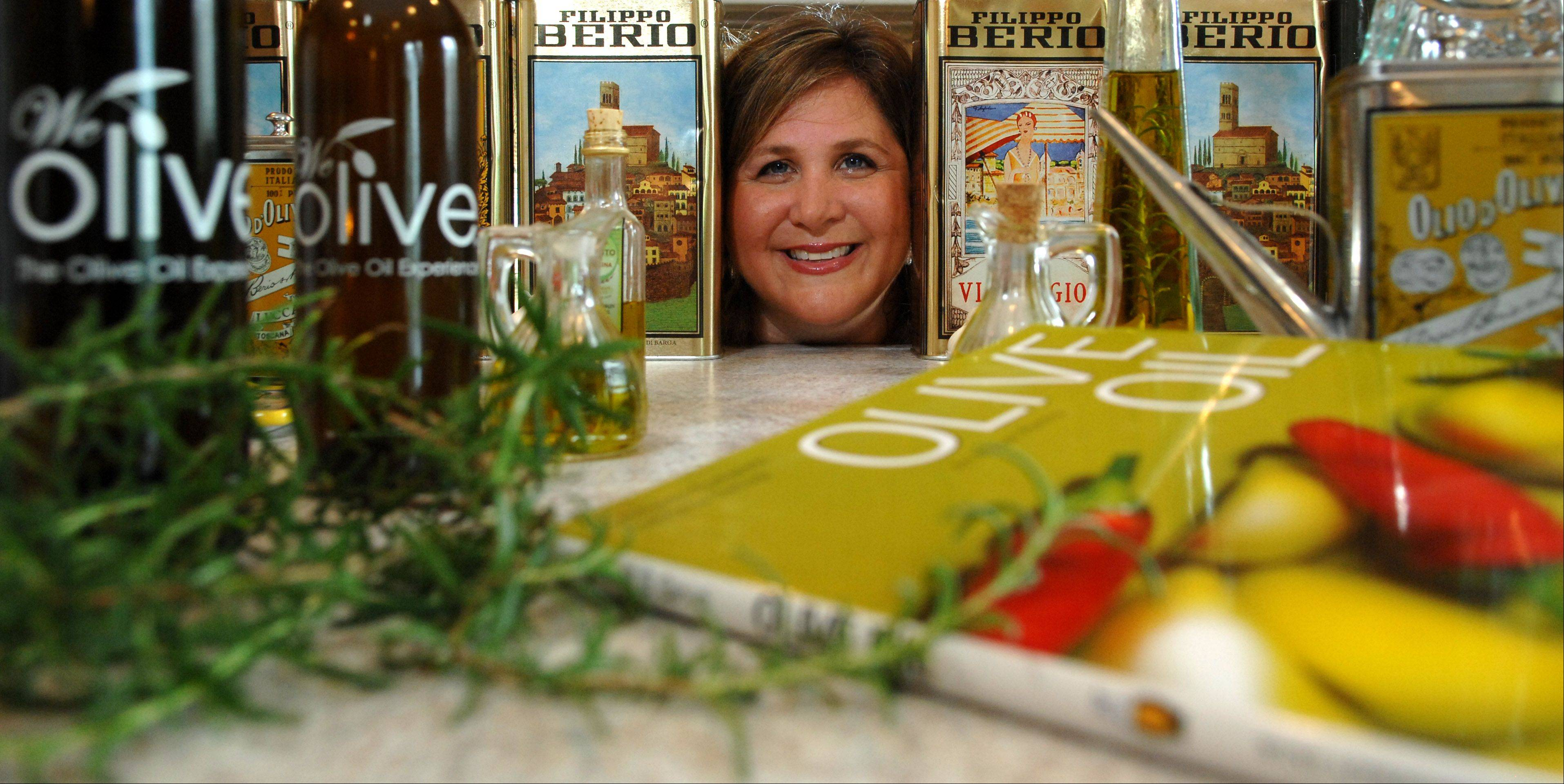 Rick West/rwest@dailyherald.comDaily Herald Cook of the Week Challenge contestant Mary Beth Thornton's favorite ingredient is olive oil.