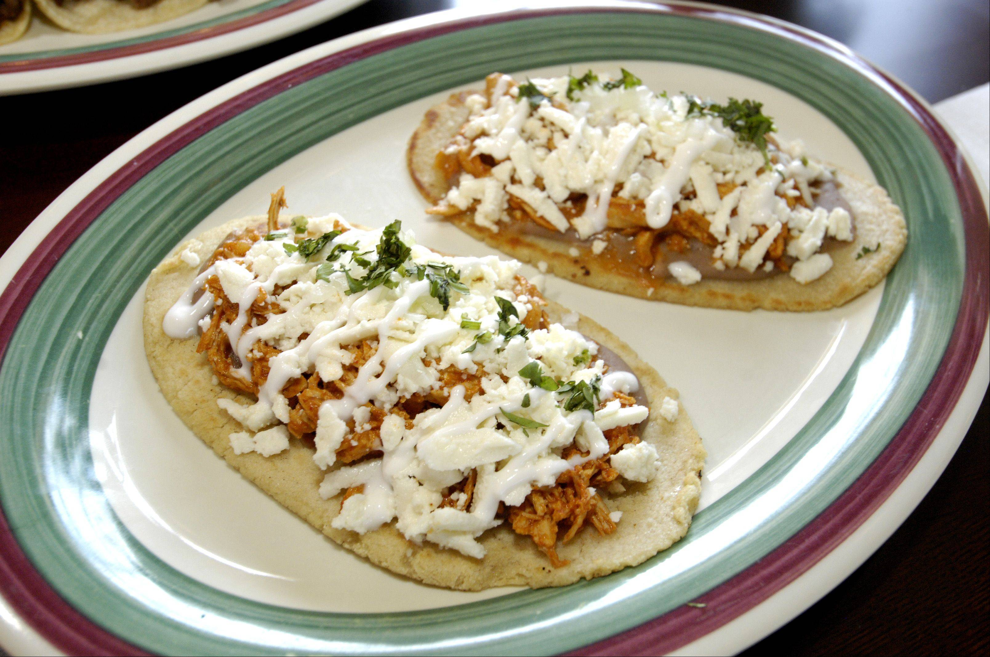 Changarro features shareable plates, like these memelitas tinga.