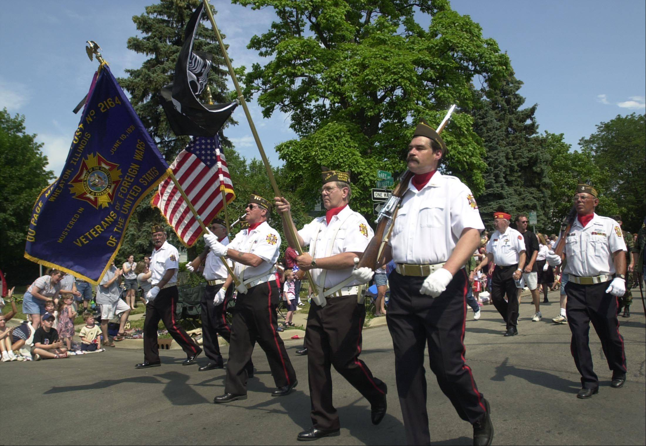 Wheaton Park District will host its rescheduled Independence Day Parade Monday starting at Main Street and Hawthorne Boulevard.