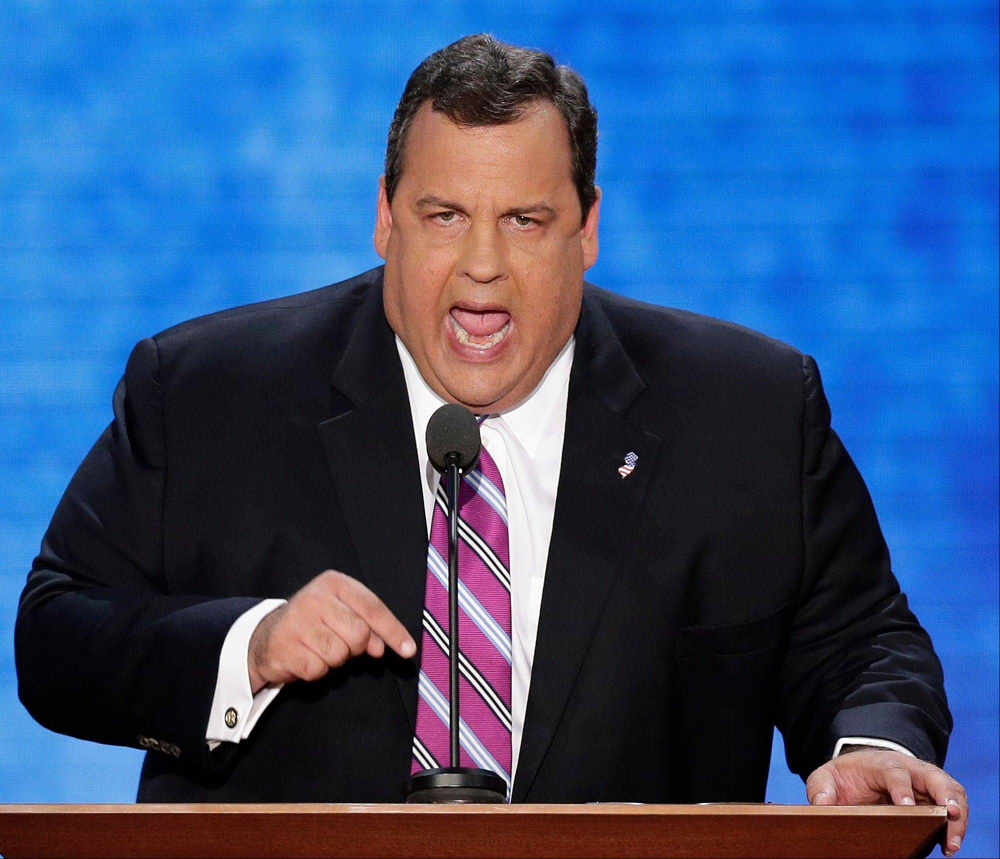 New Jersey Governor Chris Christie addresses the Republican National Convention .
