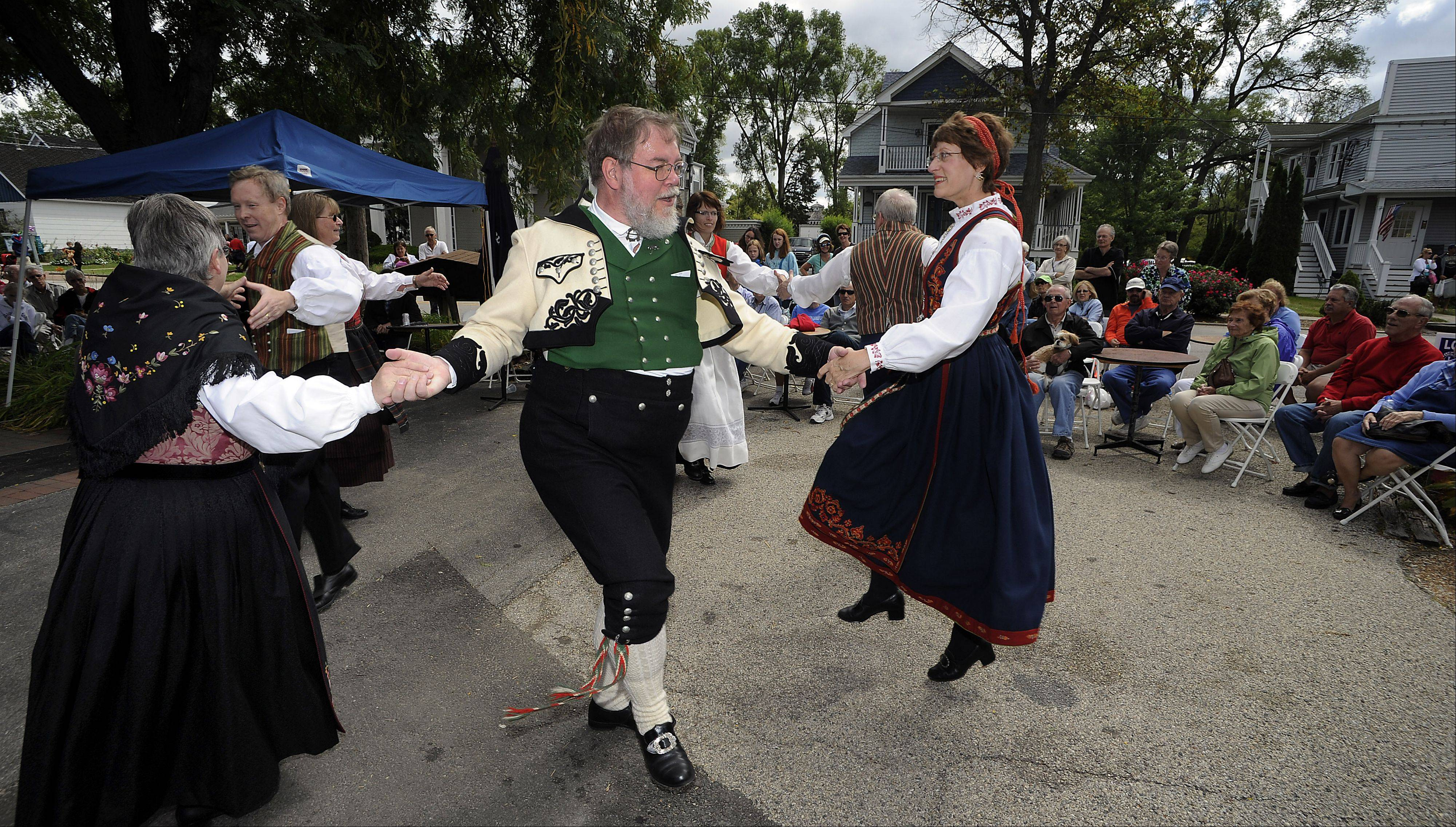 Paul Neumann of Vernon Hills does the Norwegian polka with several dance partners at last year's World Tour.