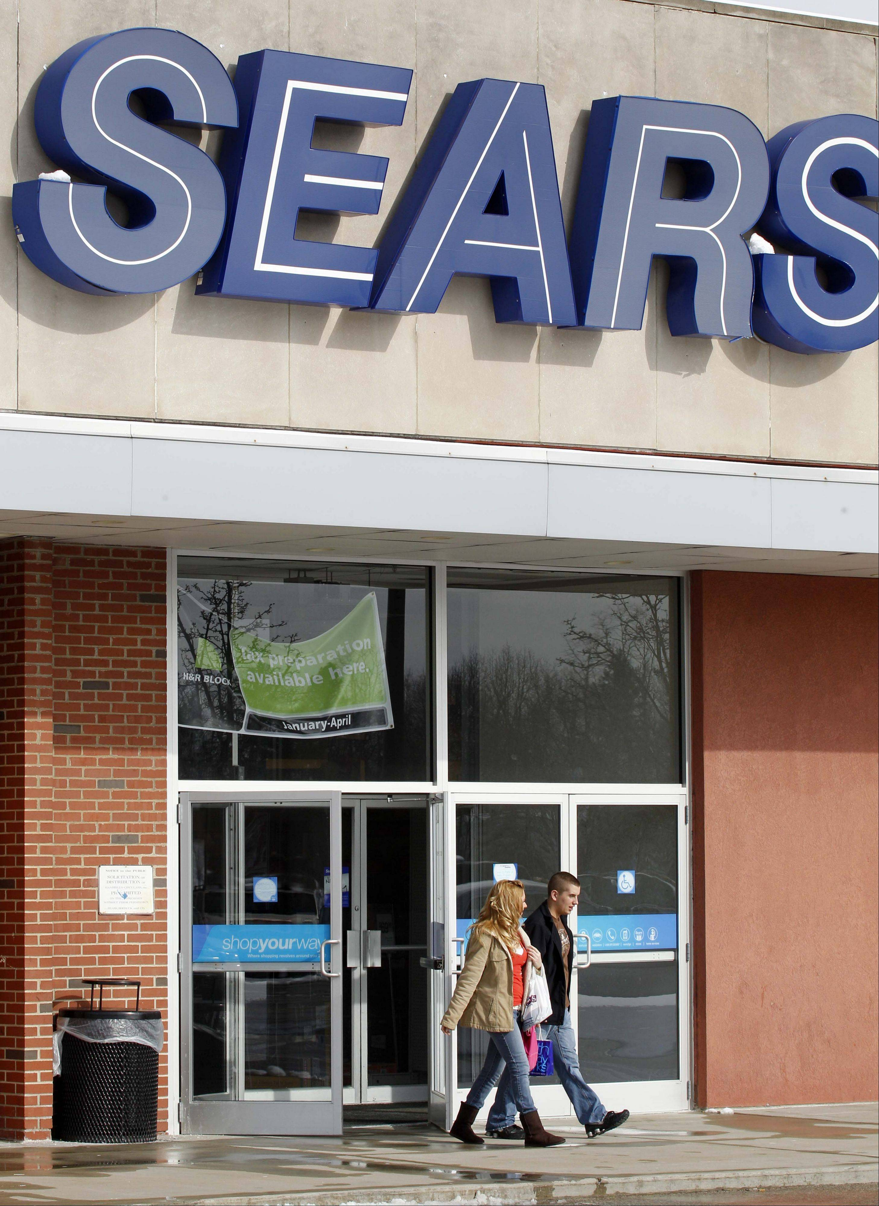 Sears declines after losing place on S&P 500