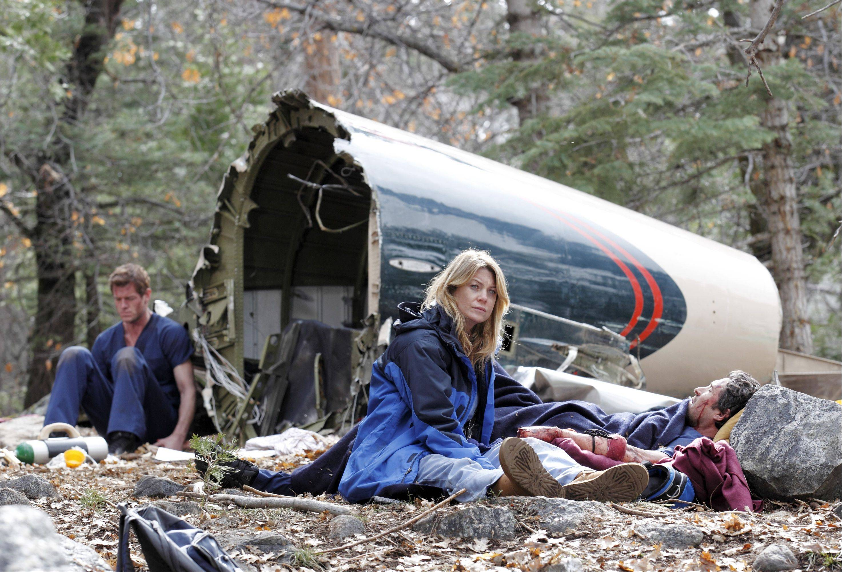 "In last season's cliffhanger, the doctors of ABC's ""Grey's Anatomy"" were fighting to survive in the wilderness following a plane crash. Tune in Sept. 27 to see how they've fared."