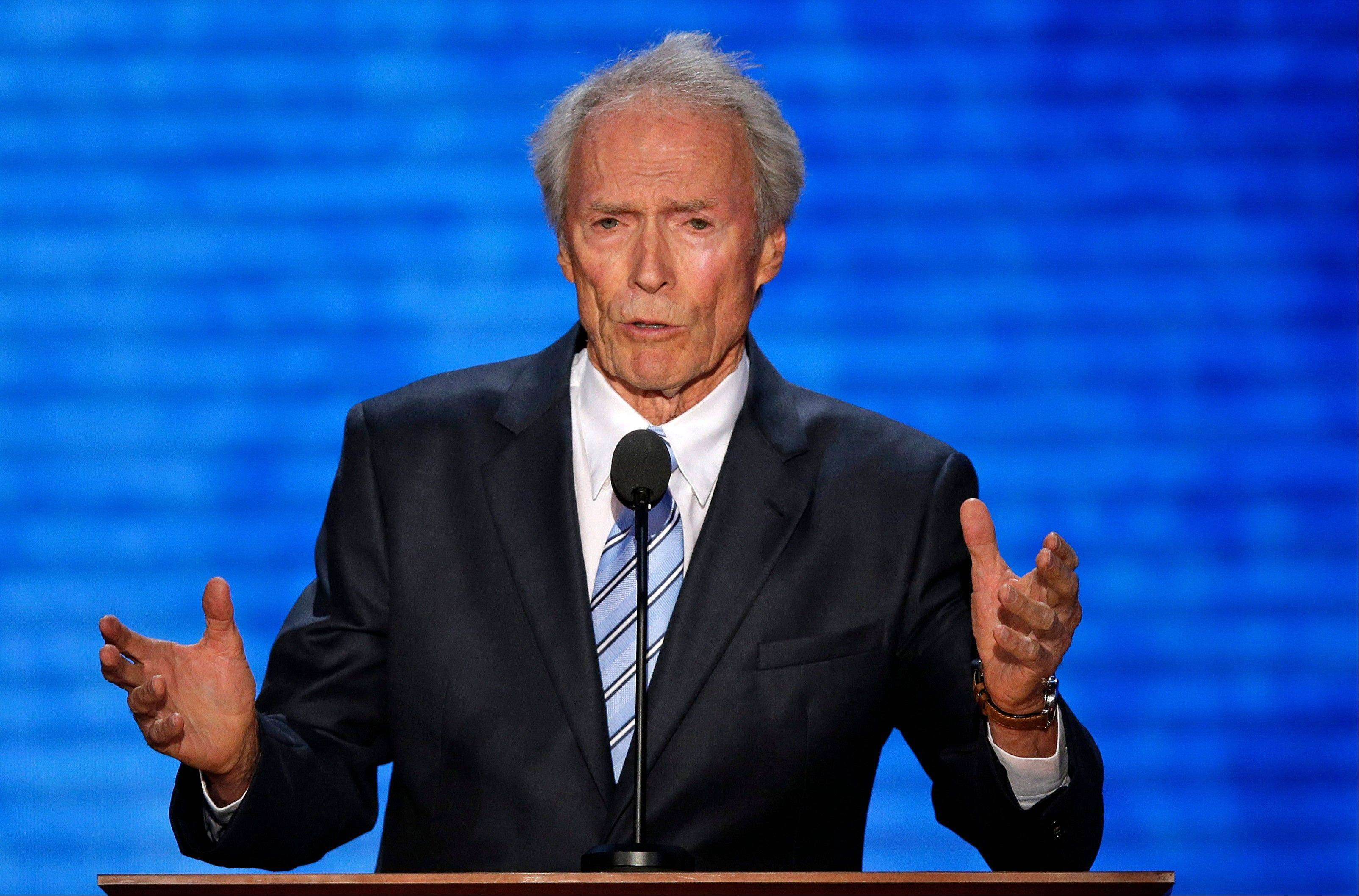 Actor Clint Eastwood addresses the Republican National Convention in Tampa, Fla., on Thursday.