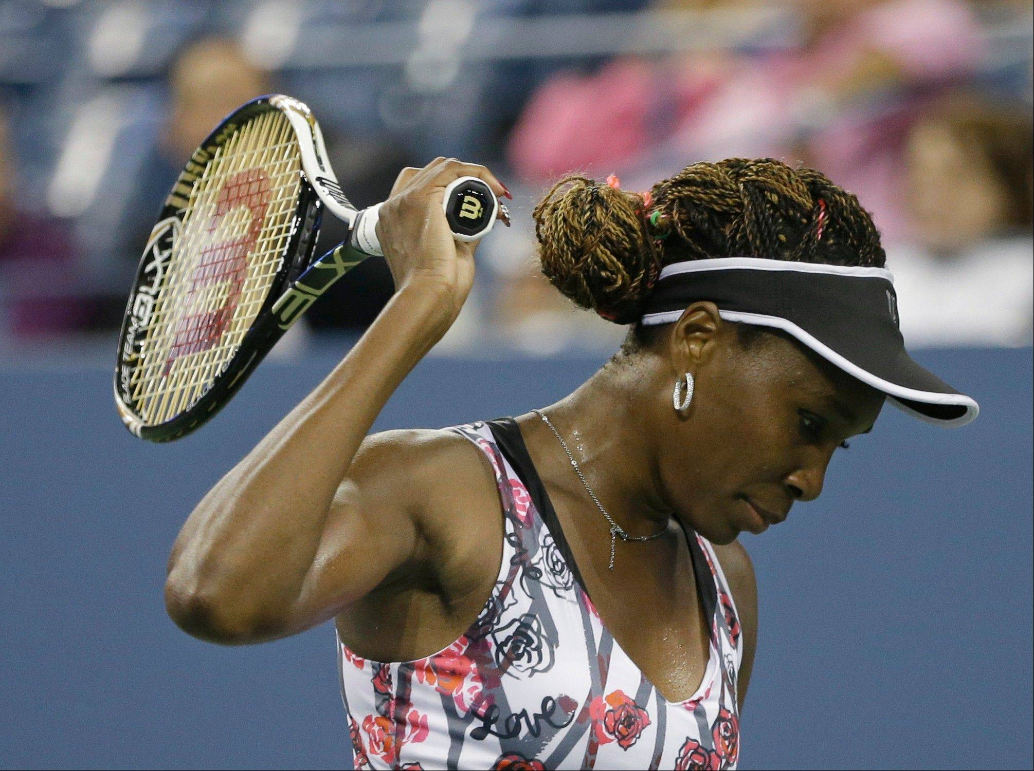 Venus Williams fell 6-2, 5-7, 7-5 to sixth-seeded Angelique Kerber of Germany at the U.S. Open.