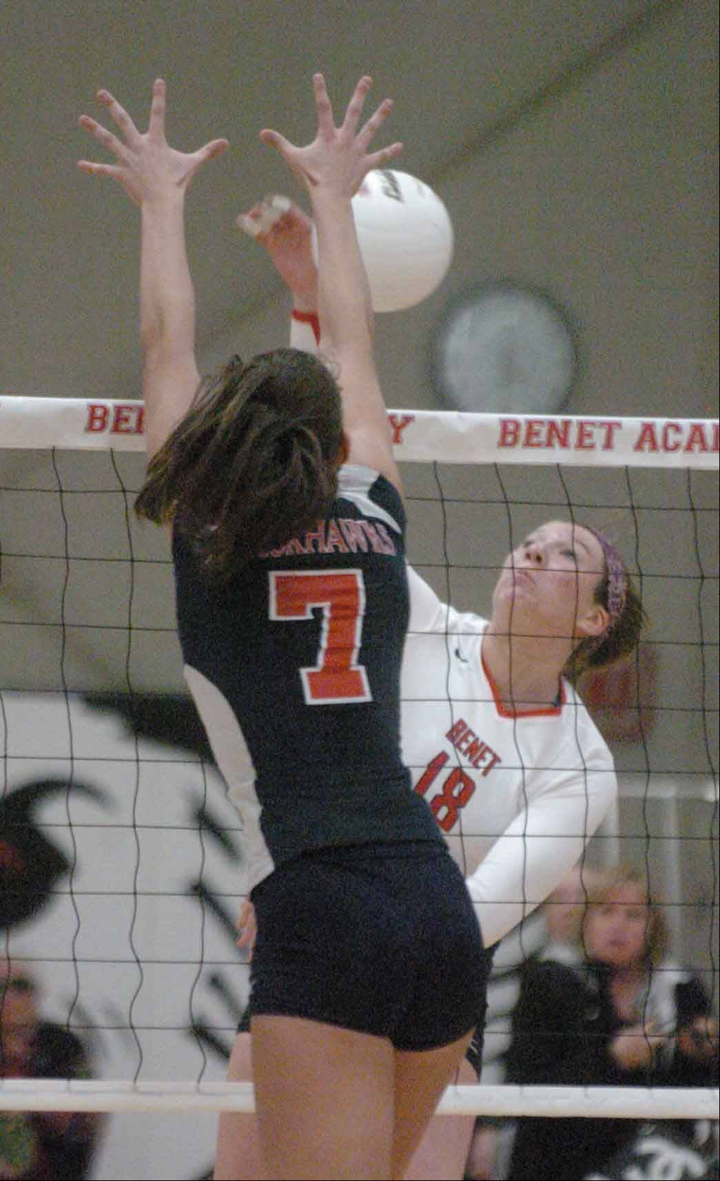 Maddie Haggerty helped Benet win a state championship last season before transferring to St. Francis for this season.