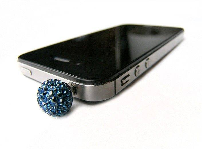 JackGems is a new line of tech jewelry that has a Swarovski crystal-encrusted plug for your smartphone or tablet. Each costs $26 and is available at www.jackgems.com.