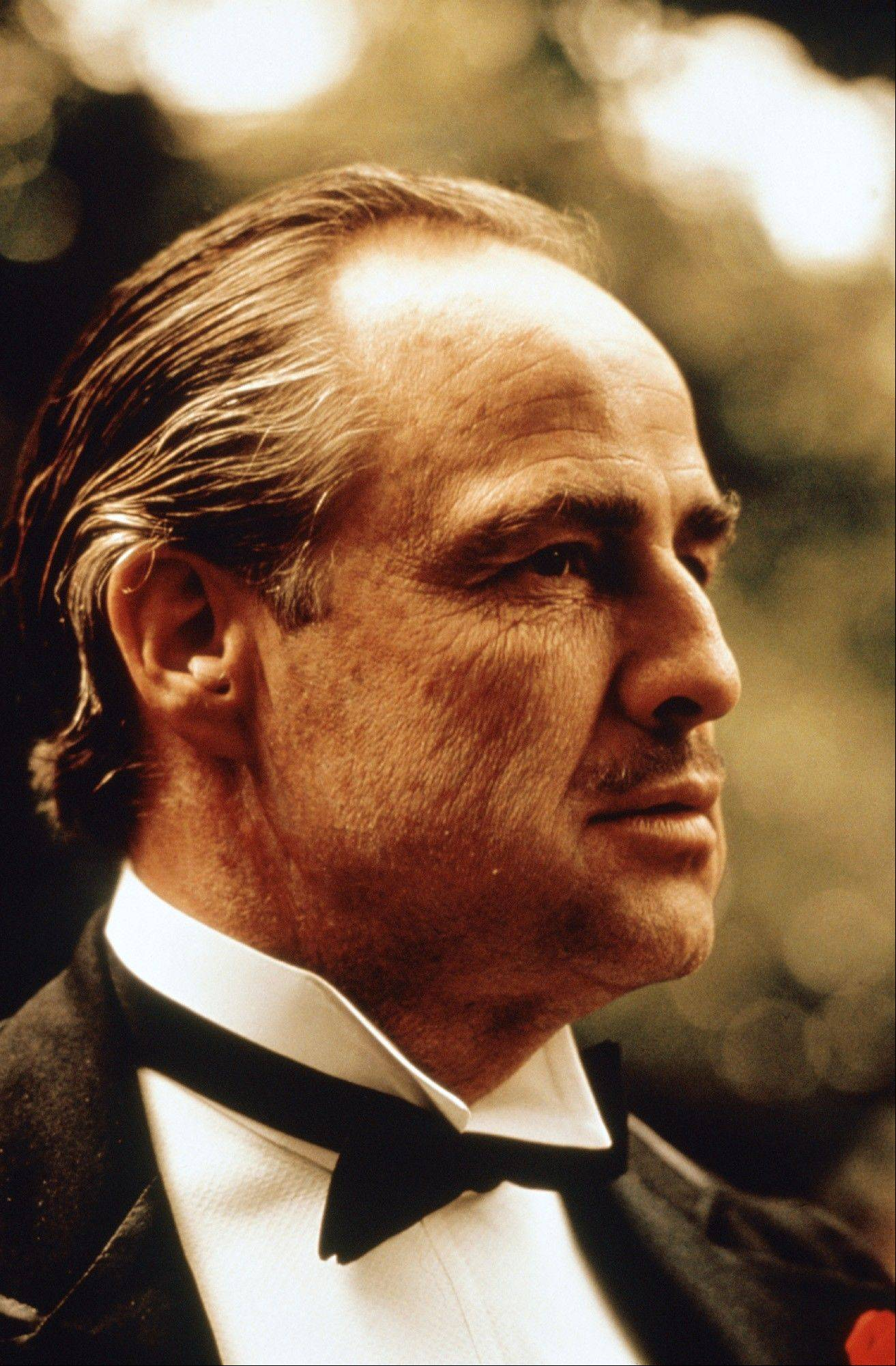 "Marlon Brando in a scene from Paramount Pictures' ""The Godfather."""