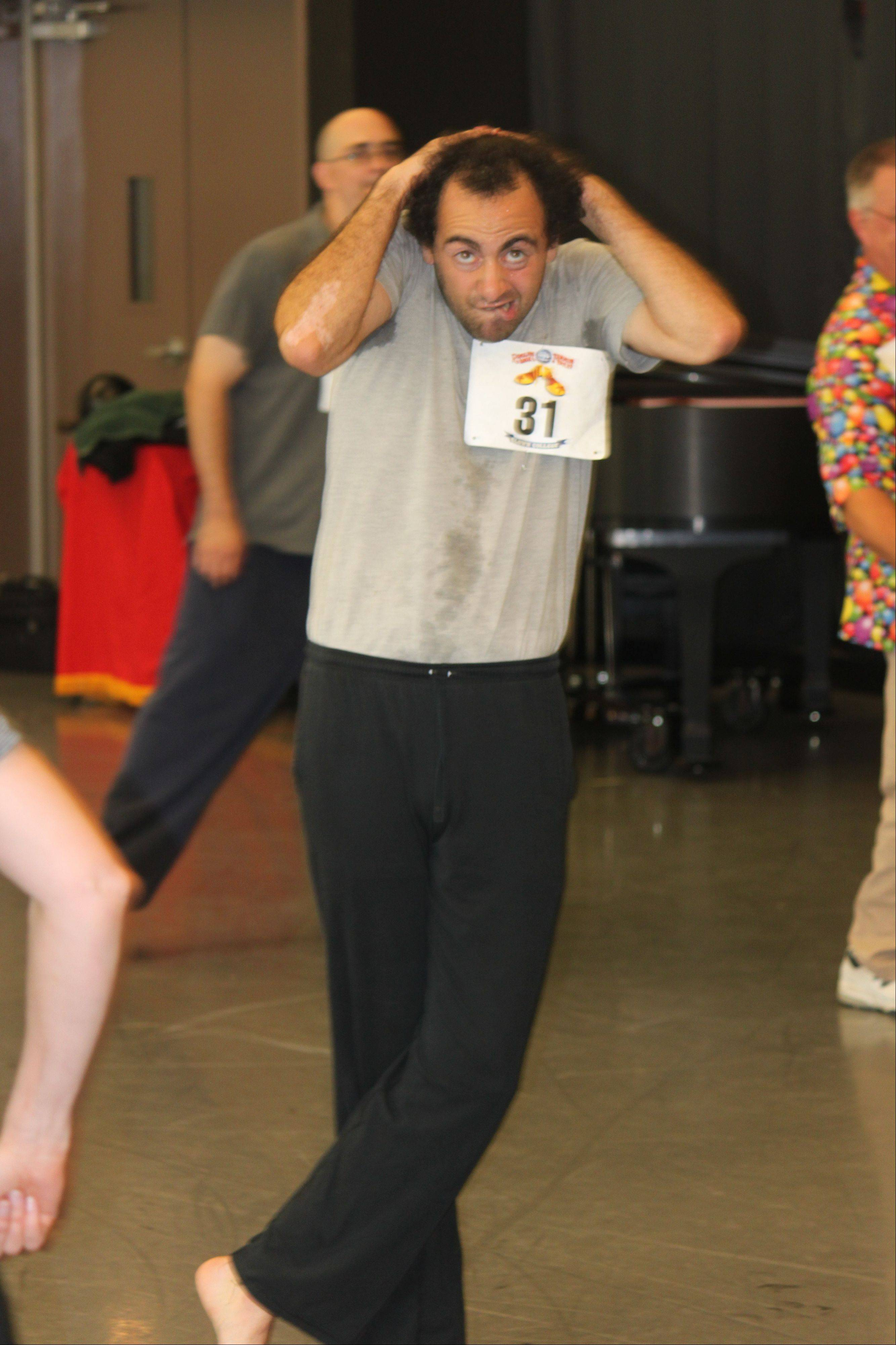 Alex Suha takes part in auditions at the Joffrey Ballet building in Chicago for Clown College, the training ground for all clowns with the Ringling Bros. and Barnum & Bailey circus.
