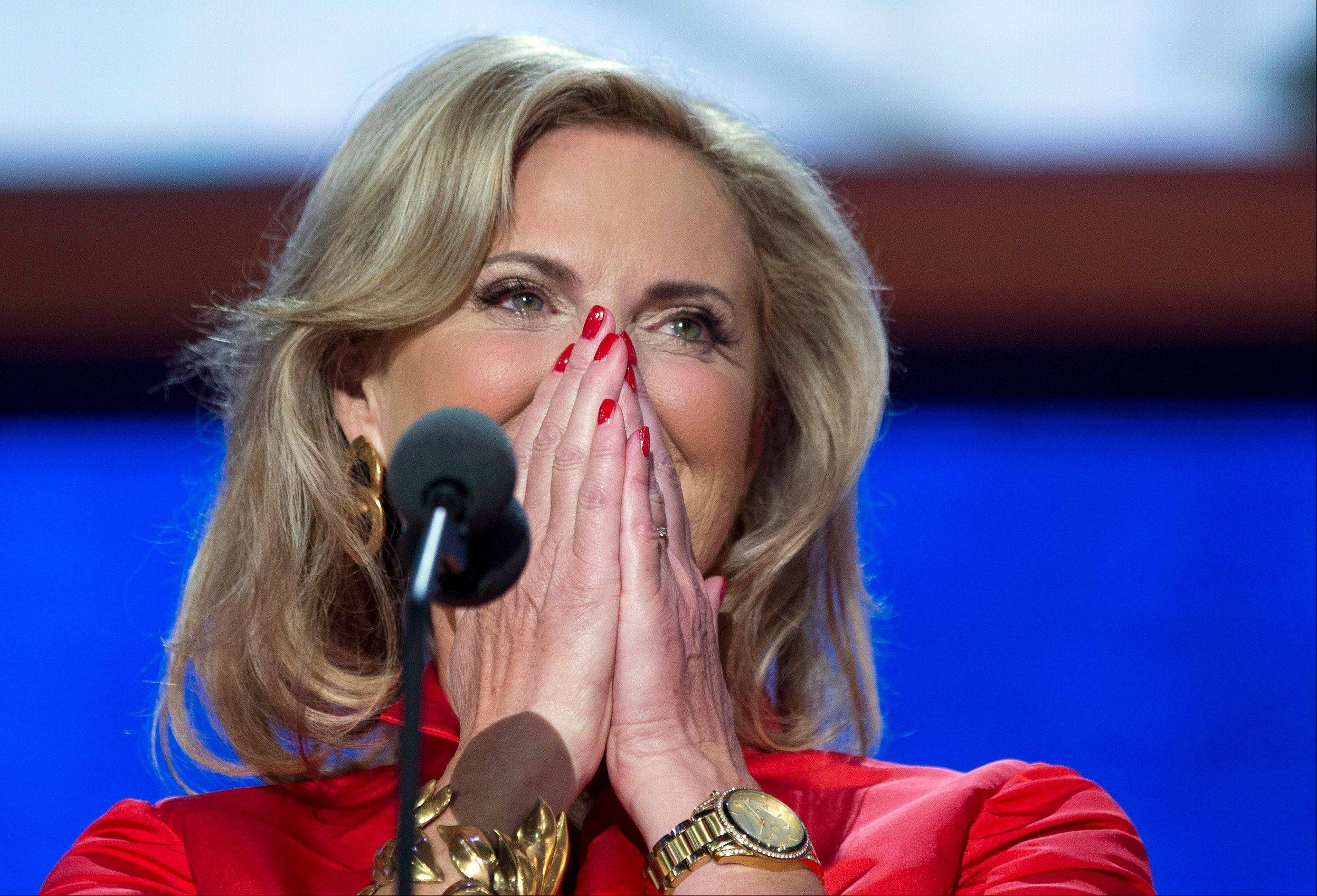 Ann Romney, wife of Republican presidential candidate, former Massachusetts Gov. Mitt Romney, spoke before the convention Tuesday and shared intimate details of their marriage.