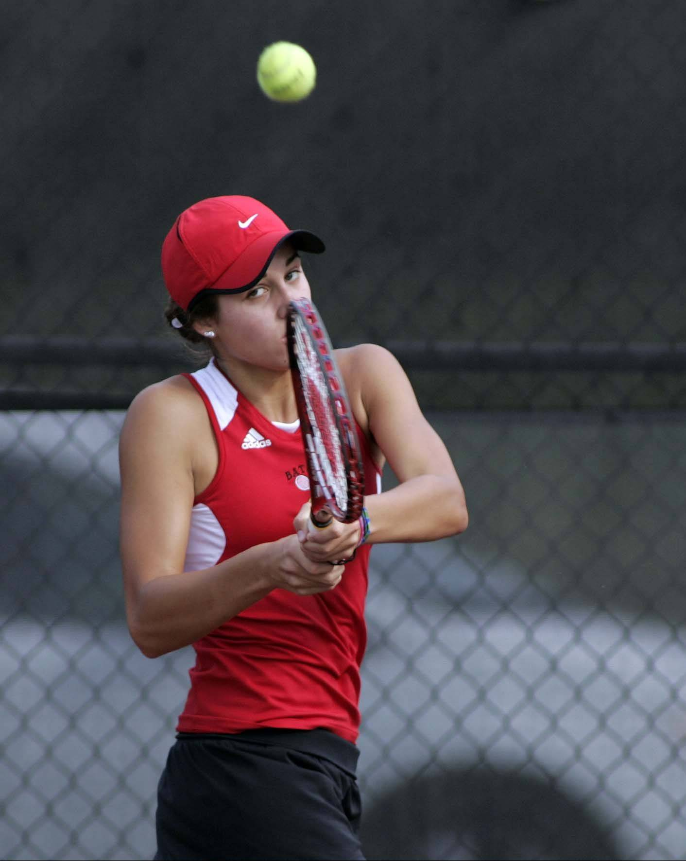 No. 1 singles player Miranda Grizaffi entered her senior season 23 wins shy of 100 for her Batavia career.