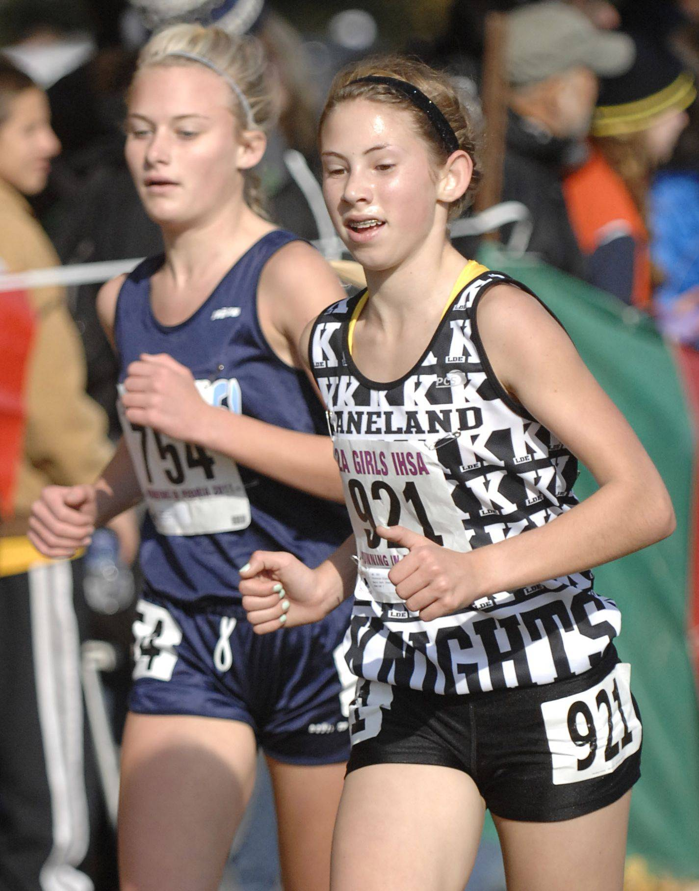 Kaneland's Victoria Clinton took 11th with a time of 17:41 at the 2011 Class 2A state cross meet.