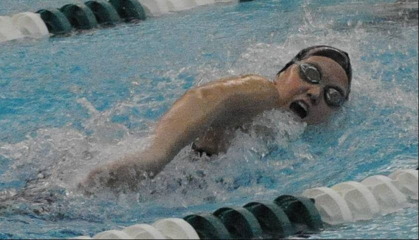 Fremd's Breanna Anderson churns ahead on her way to a state-qualifying time in the 100 freestyle last season. A senior this fall, she's qualified for the state meet individually the last two years in both the 50 and 100 freestyles.