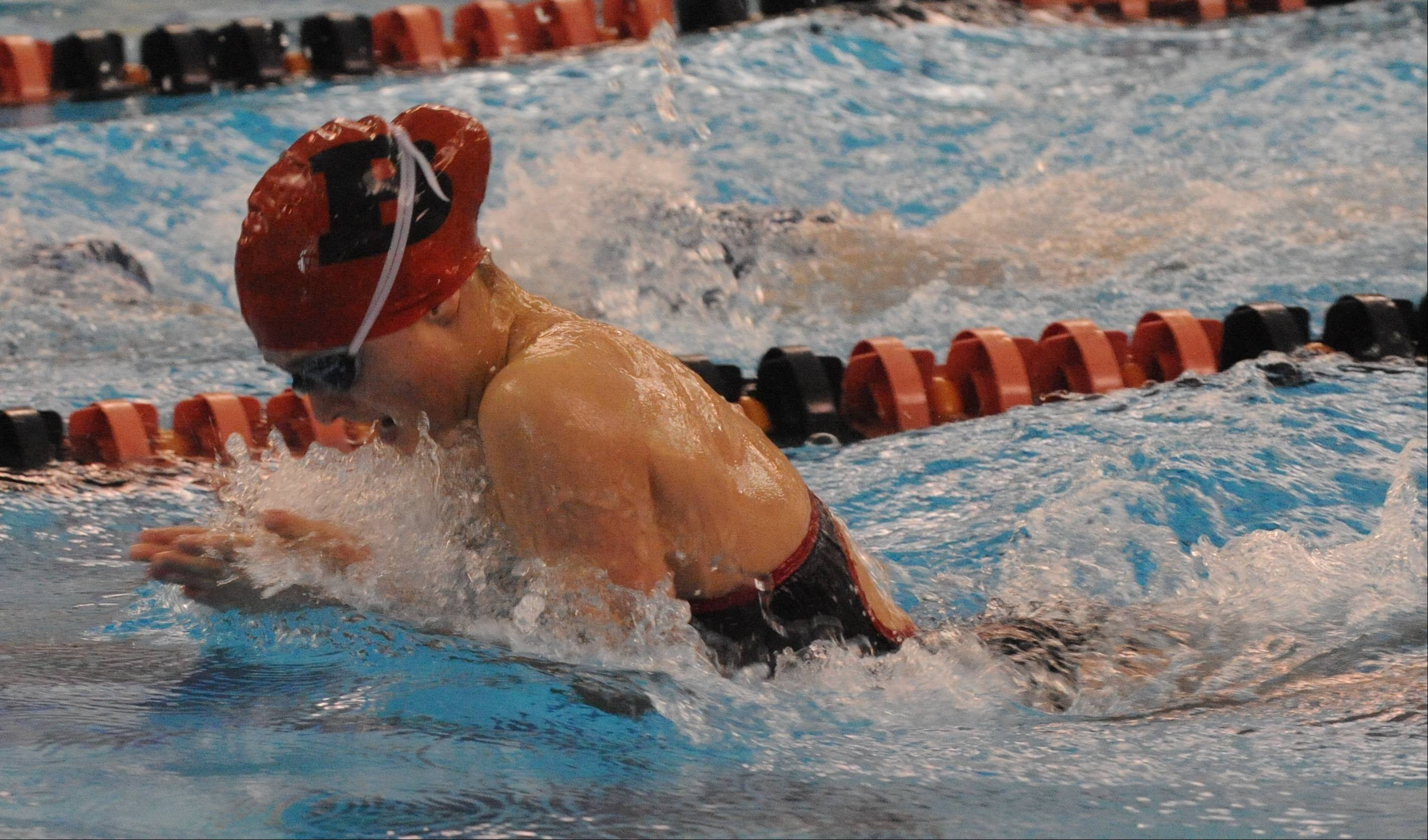 Junior Mekenna Scheitlin scored points in the 50-yard freestyle