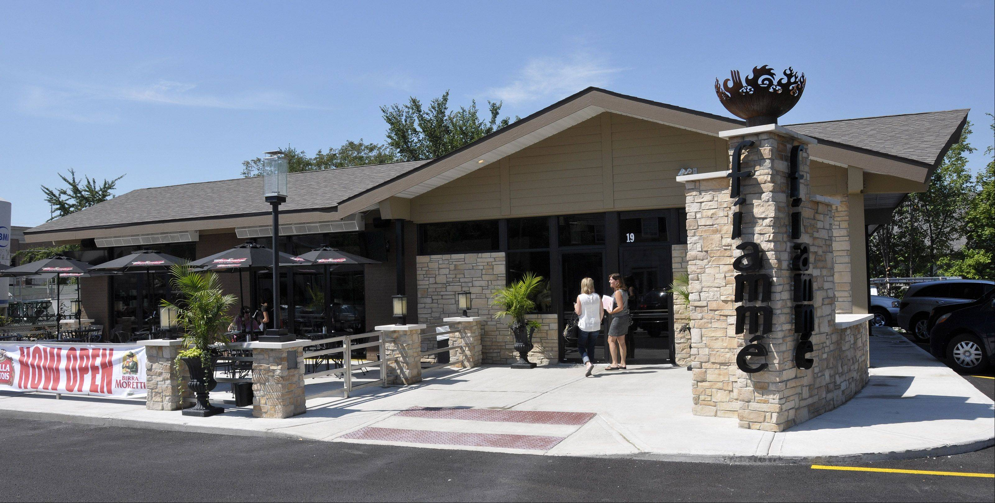 A new pizza restaurant, Fiamme, is open on Washington Street at Van Buren Avenue in Naperville. It's the site of an old Union 76 gas station.