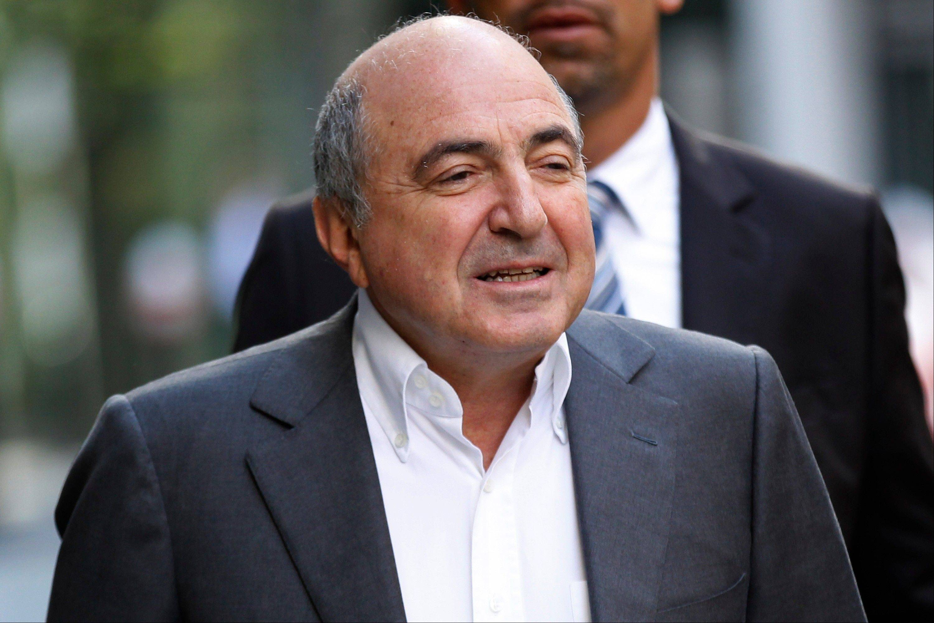 Russian tycoon Boris Berezovsky arrives at the high court in London, Friday, Aug. 31, 2012. Berezovsky lost a High Court battle against Roman Abramovich in a multibillion-dollar legal battle waged between the two Russian tycoons in a London courtroom.
