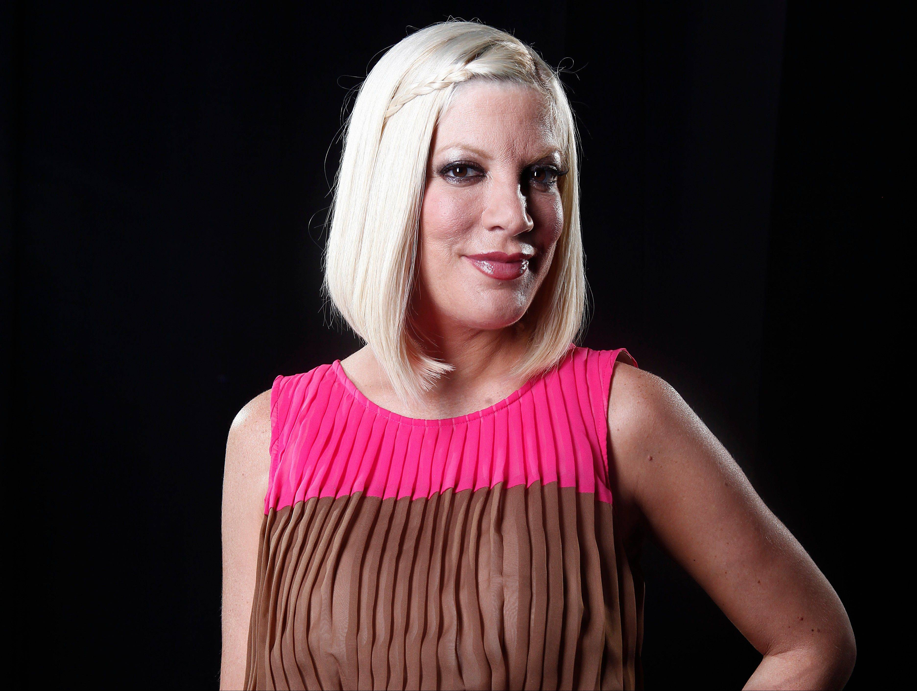 Actress Tori Spelling has given birth to her fourth child, a son named Finn, on Thursday.