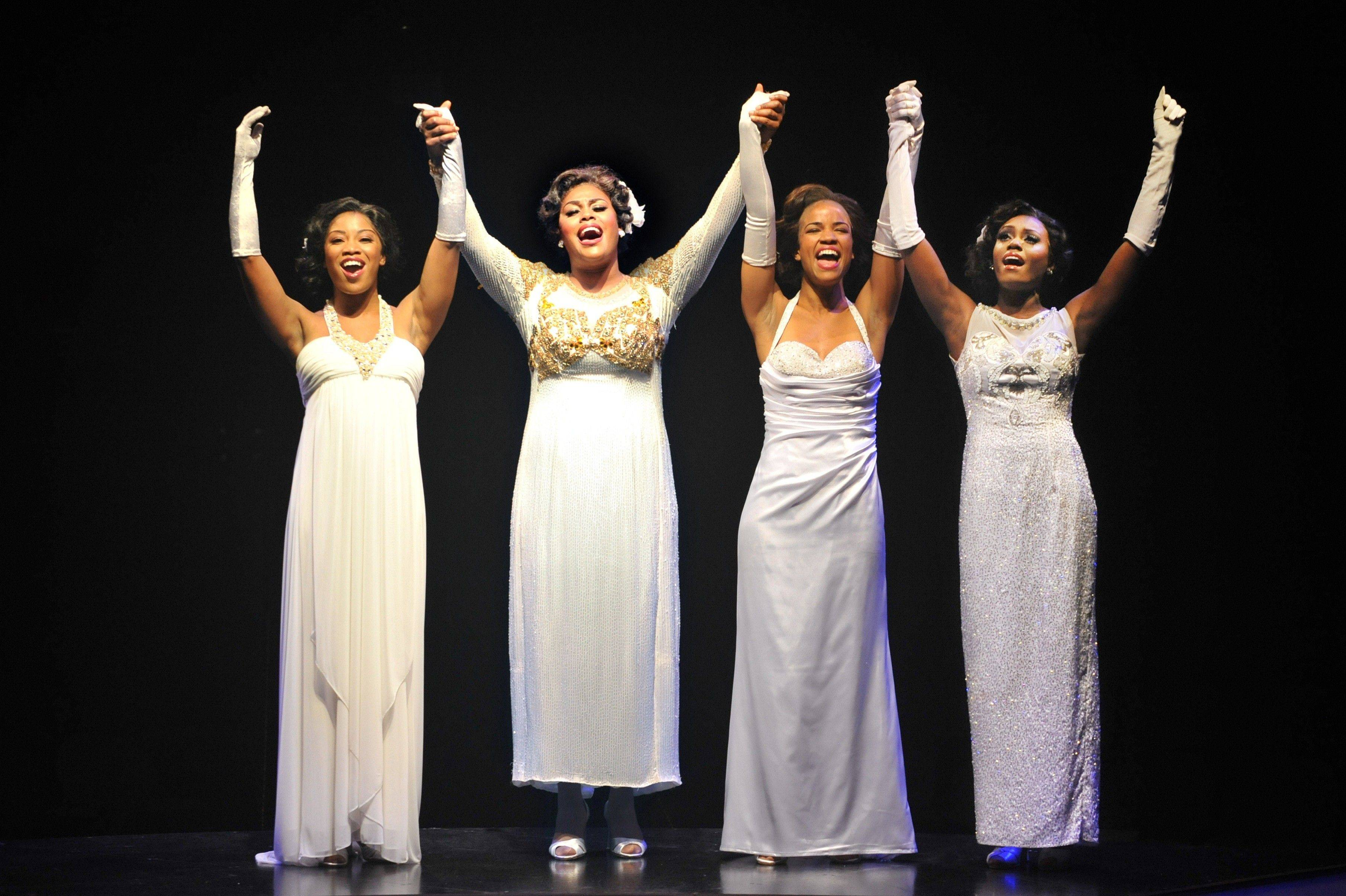 "Marriott Theatre's ""Dreamgirls"" are, from left, Rashidra Scott, Raena White, Britney Coleman, and Naperville's own Darilyn Burtley."