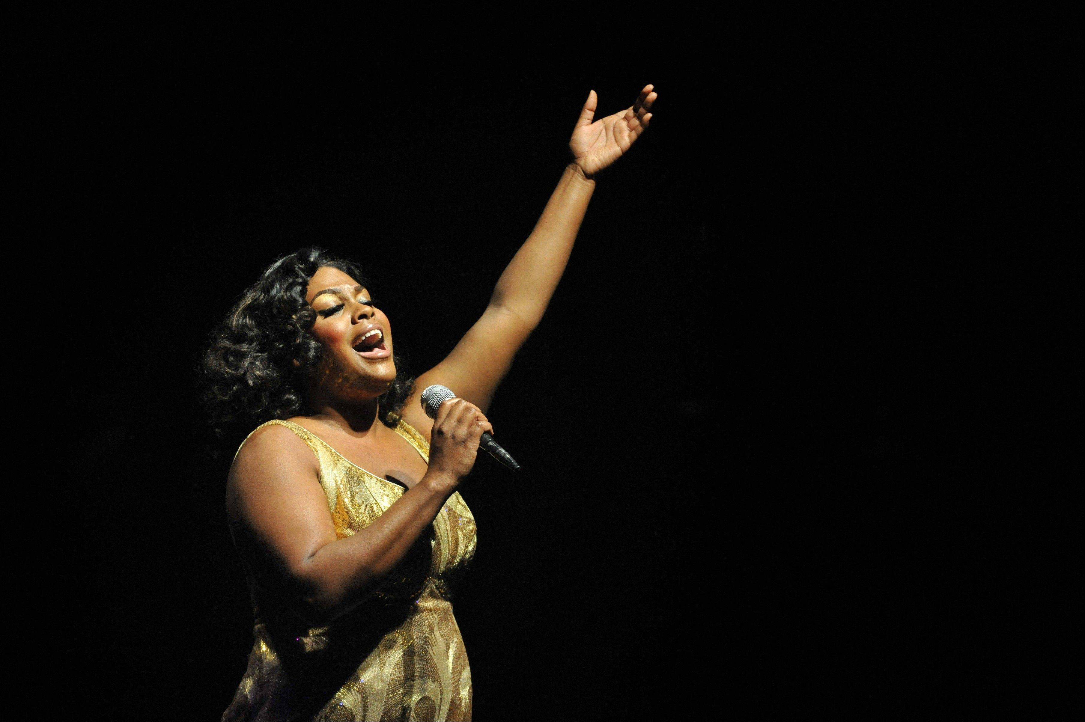 "Having weathered disappointment and betrayal, powerhouse singer Effie (Raena White) comes into her own as a solo act in ""Dreamgirls,"" running through Oct. 28, at Marriott Theatre in Lincolnshire."