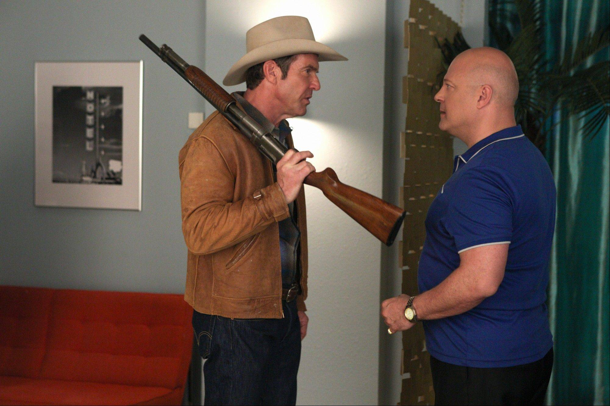 "A sheriff (Dennis Quaid) and gangster (Michael Chiklis) square off in ""Vegas,"" a drama set in the 1960s premiering on CBS."