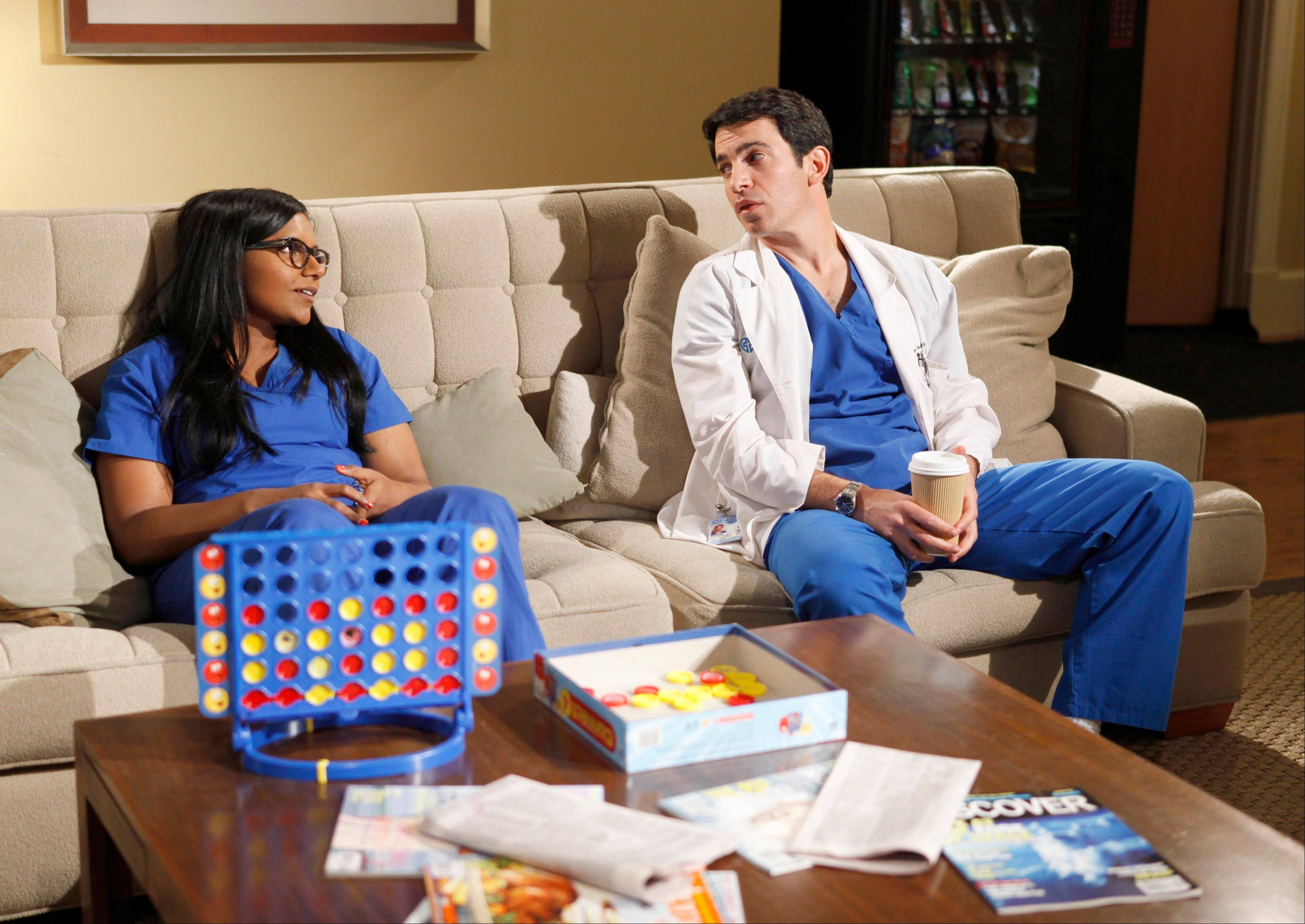 "Mindy Kaling and Chris Messina star in Fox's ""The Mindy Project."""