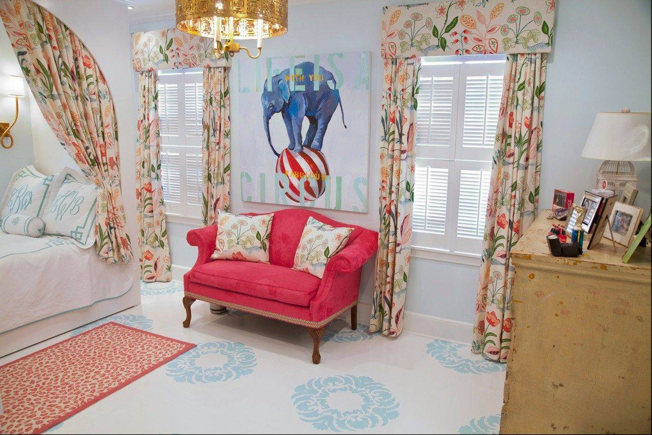 Atlanta artist Nancy B. Westfall painted this floor in her daughter's room.