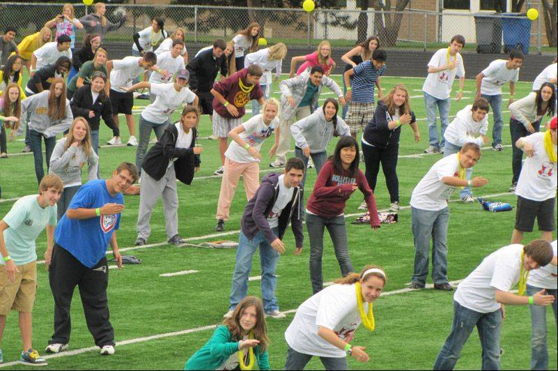 Stevenson High School students set a world record for largest robot dance in 2010.